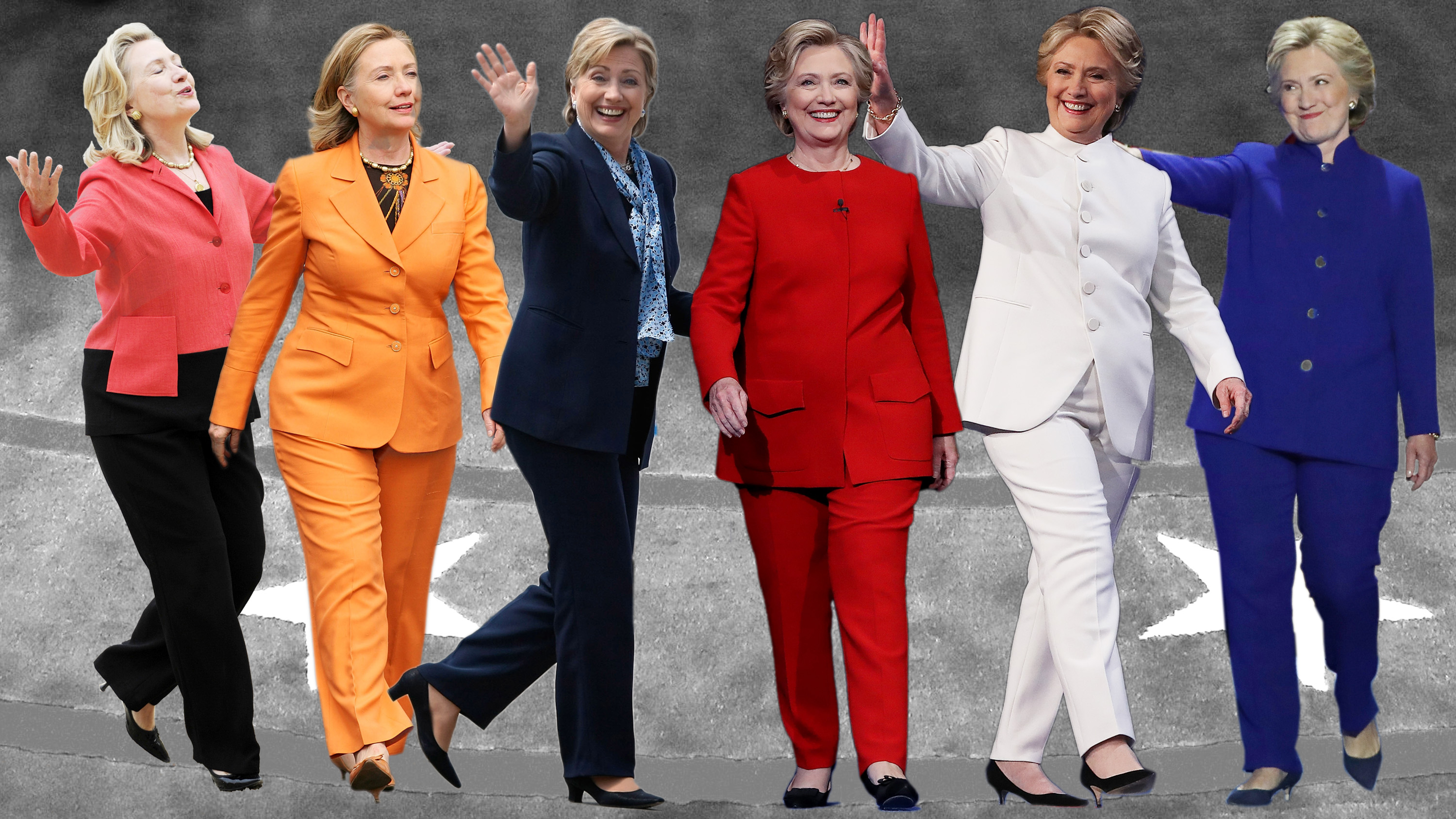 Image result for hillary clinton pant suits