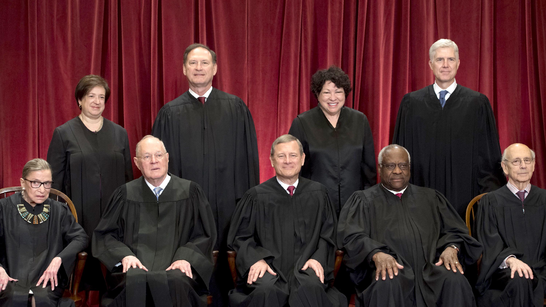Los rostros y tendencias de los magistrados de la Corte Suprema de Estados Unidos (fotos)