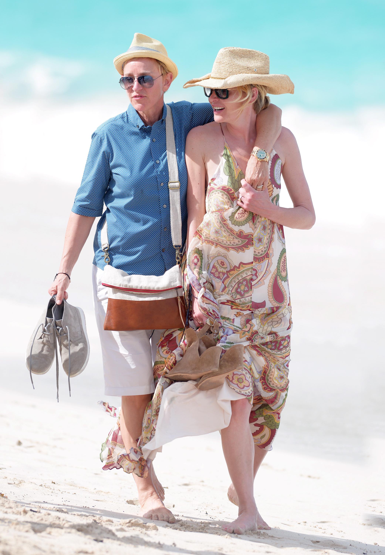 Ellen DeGeneres y Portia de Rossi de vacaciones en St. Barts