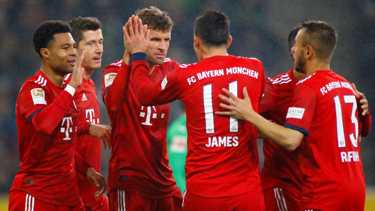 En fotos: Bayern aplastó al Mönchengladbach y se subió a la cima de la Bundesliga