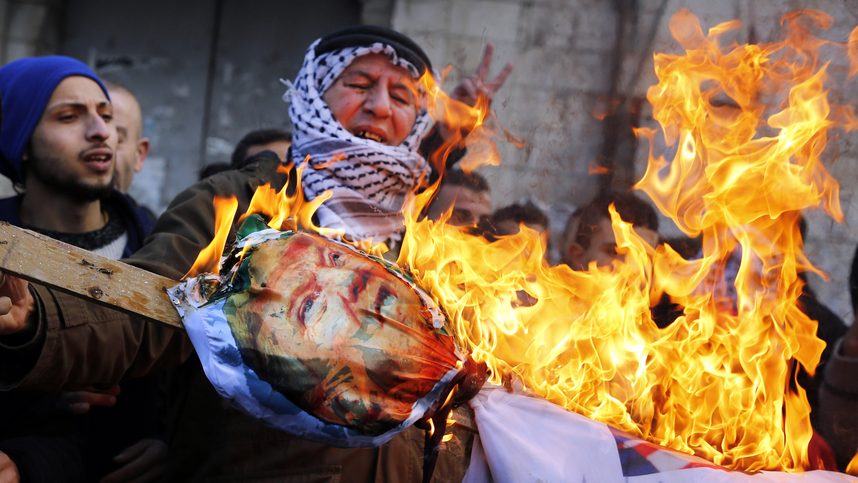 Estallan protestas tras la decisión de Trump de reconocer Jerusalén como capital de Israel (fotos)