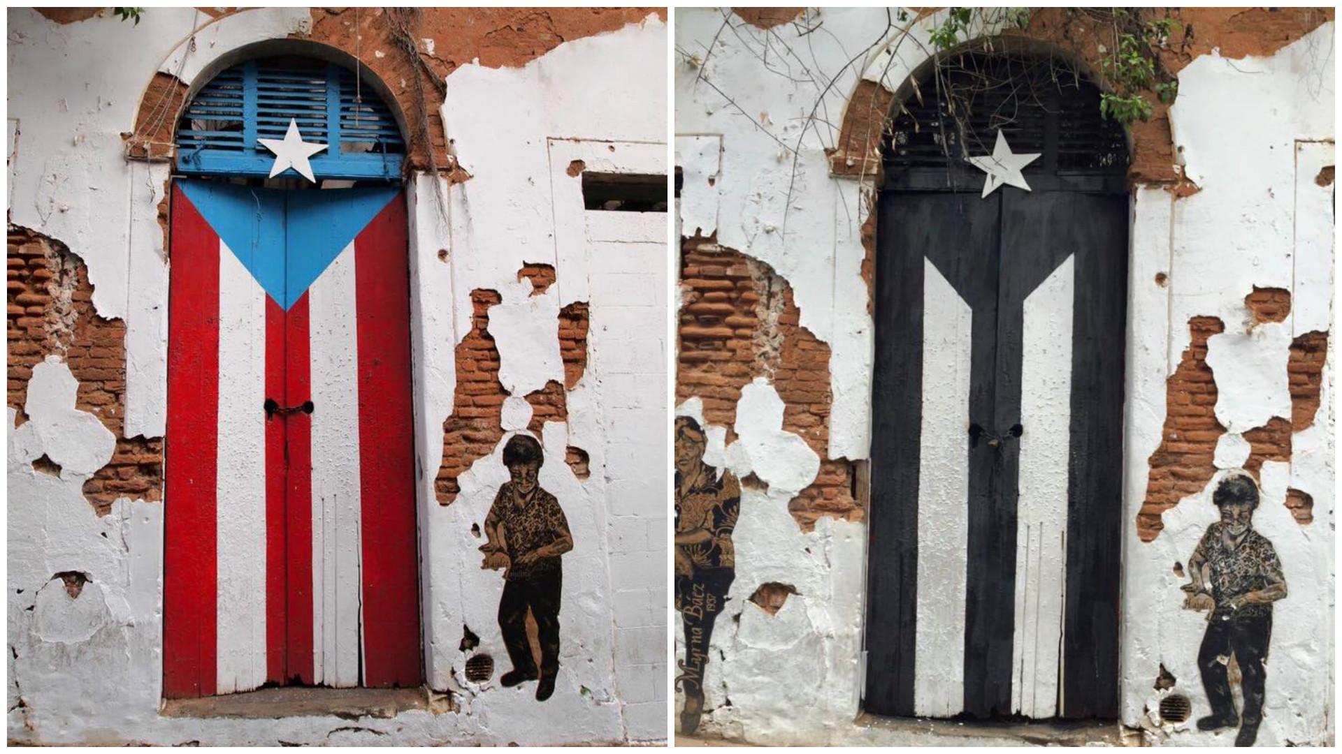 Por Que Pintaron De Negro Y Blanco La Famosa Puerta De La Bandera