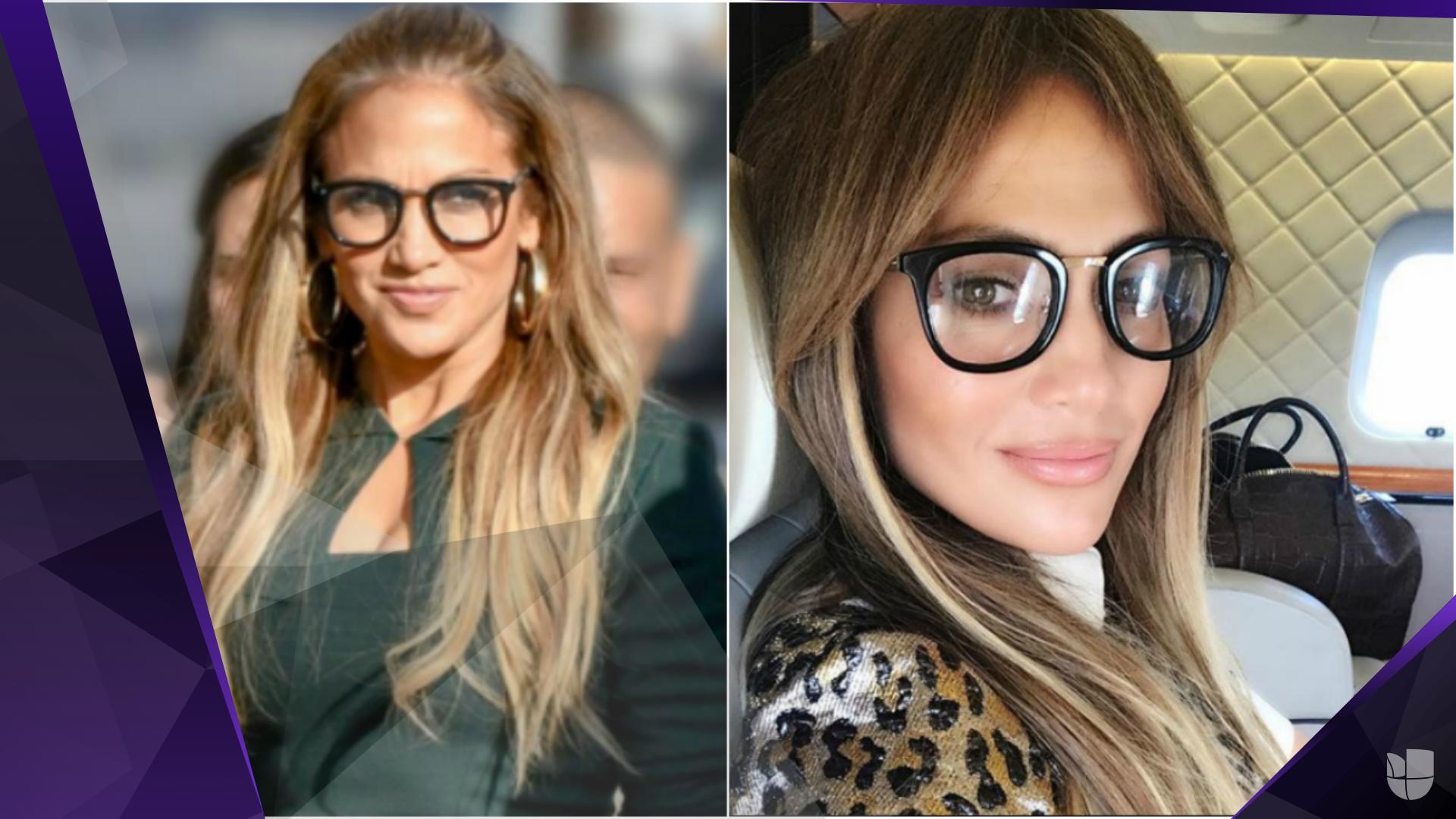 Jennifer López presume los lentes que usa por gusto, no porque los necesite