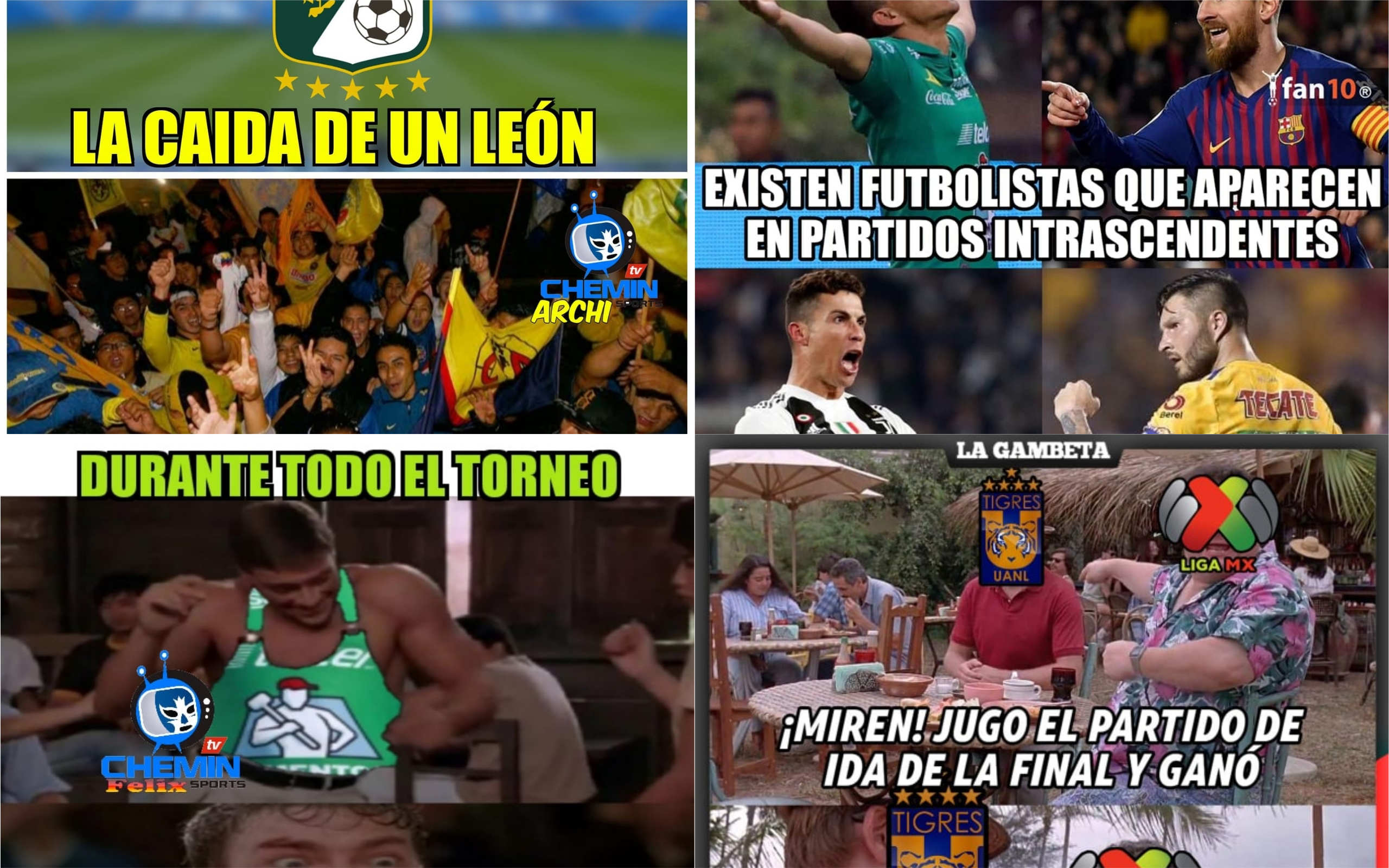 No faltaron las burlas en el juego de Ida de la Final entre Tigres y León