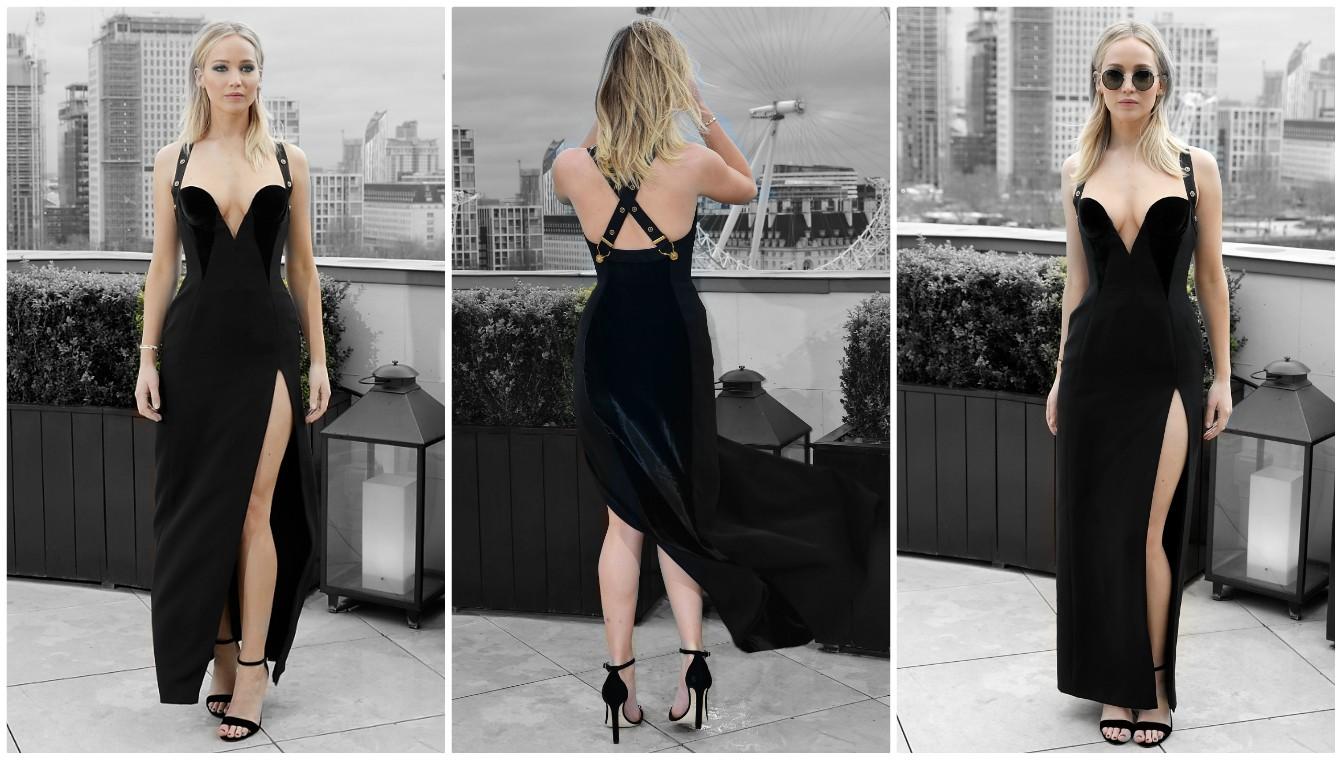 Jennifer Lawrence prefiere congelarse con tal de presumir su Versace... y no la critiquen