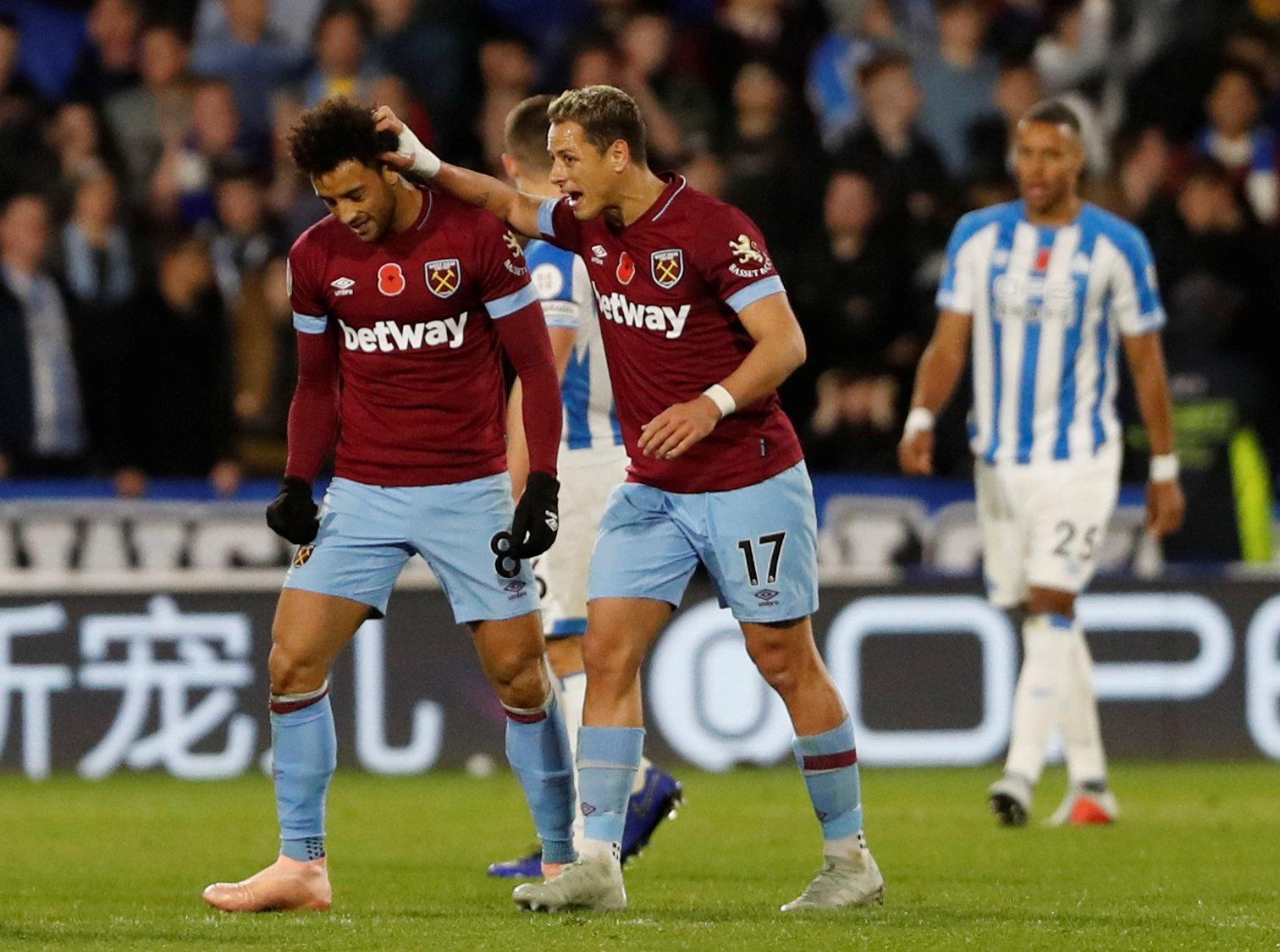 En fotos: con un buen segundo tiempo del 'Chicharito', el West Ham empató en casa del Huddersfield