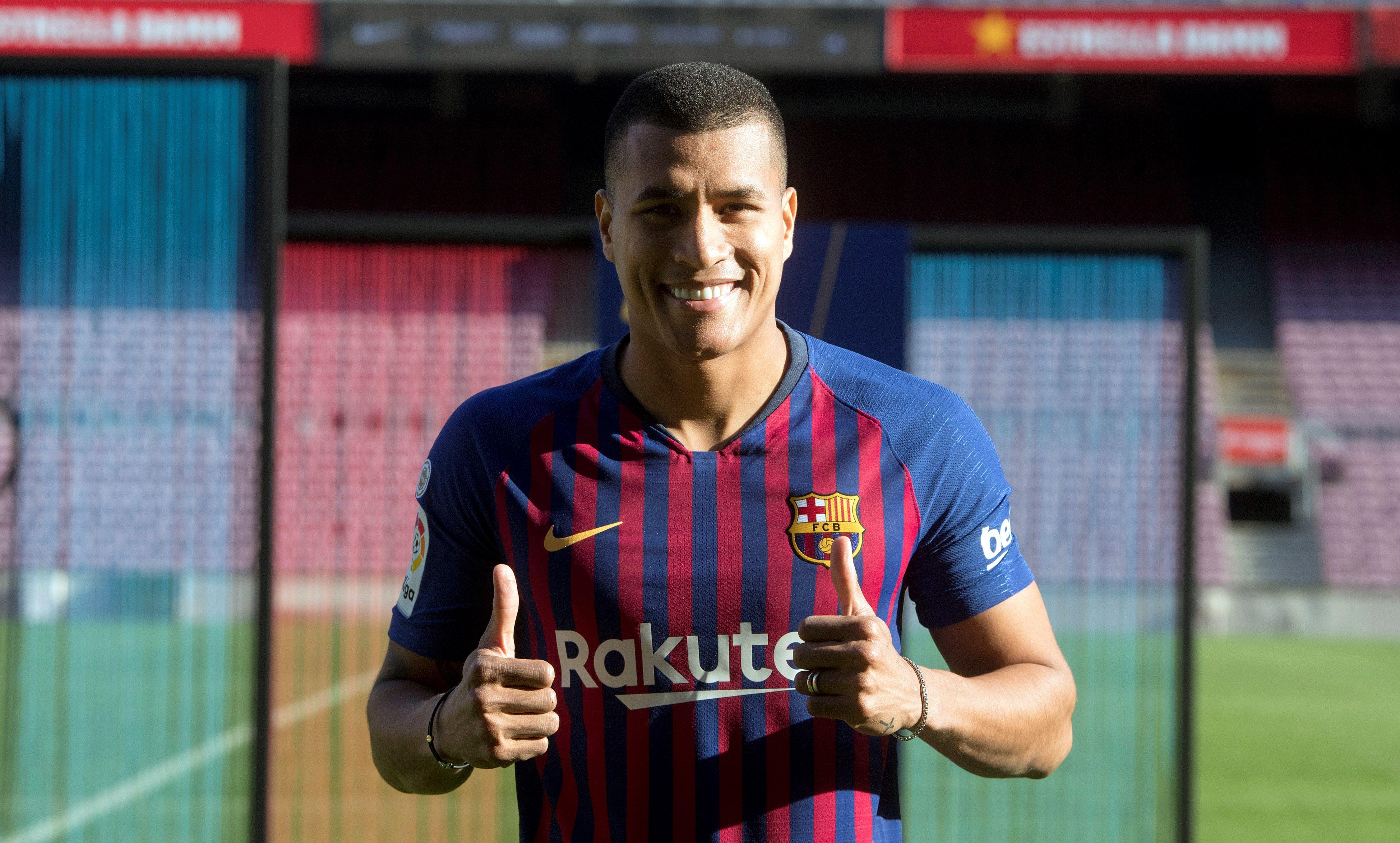 Así fue la presentación oficial de Jeison Murillo como nuevo jugador del Barcelona