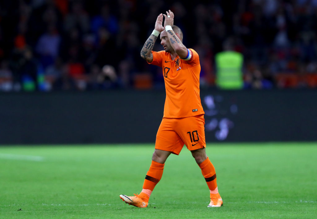 En fotos: el último adiós de Wesley Sneijder como jugador de la selección de Países Bajos