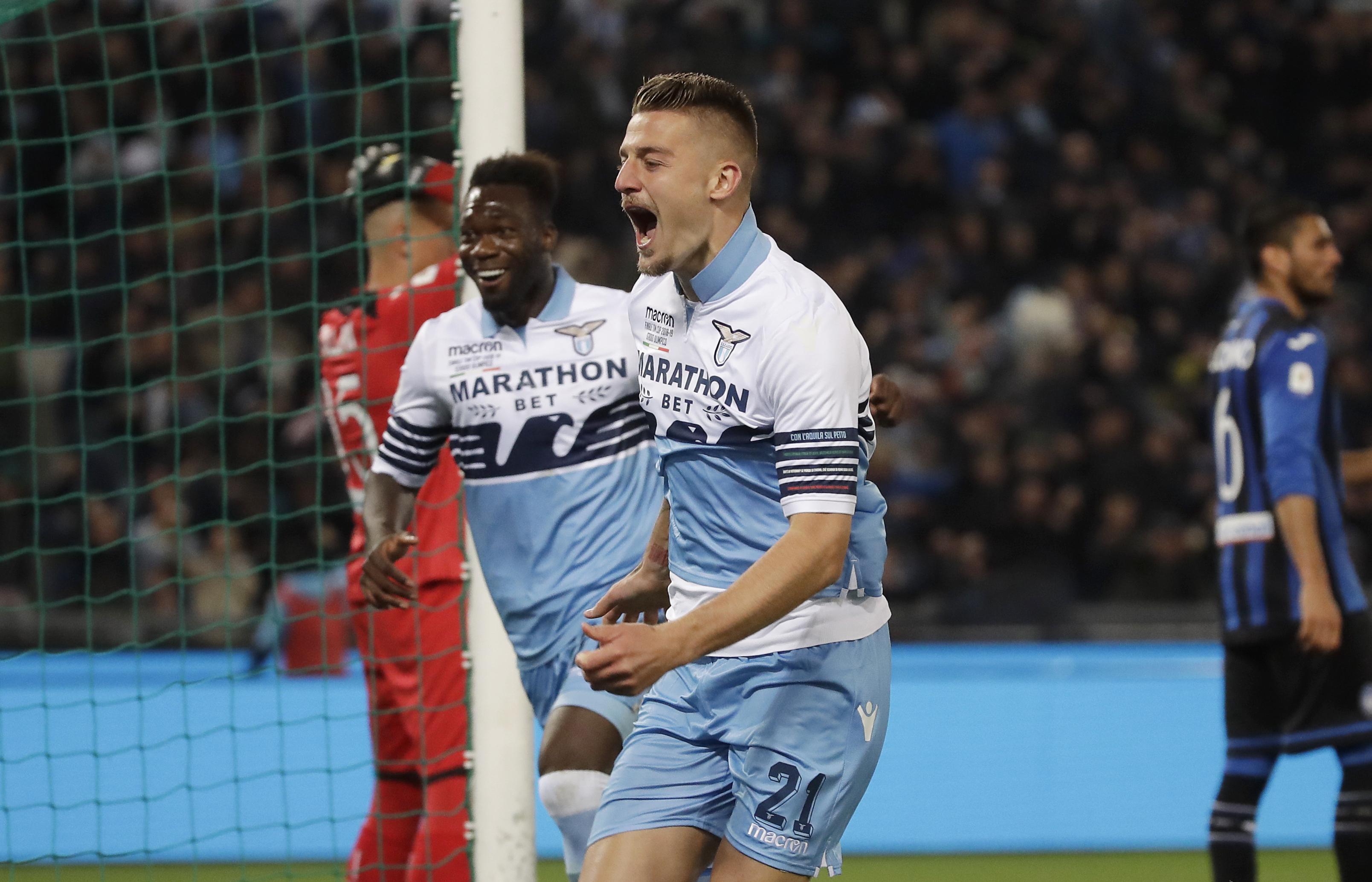 En fotos: Lazio se coronó campeón de la Copa de Italia al vencer en la Final al Atalanta