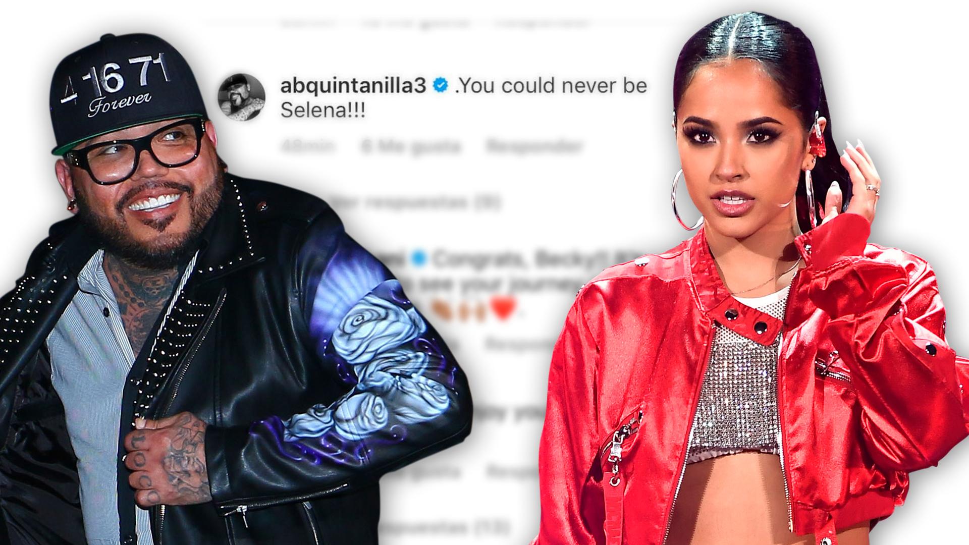 """""""Nunca serás como Selena"""": los mensajes en Twitter contra Becky G que salieron de la cuenta de A.B. Quintanilla"""