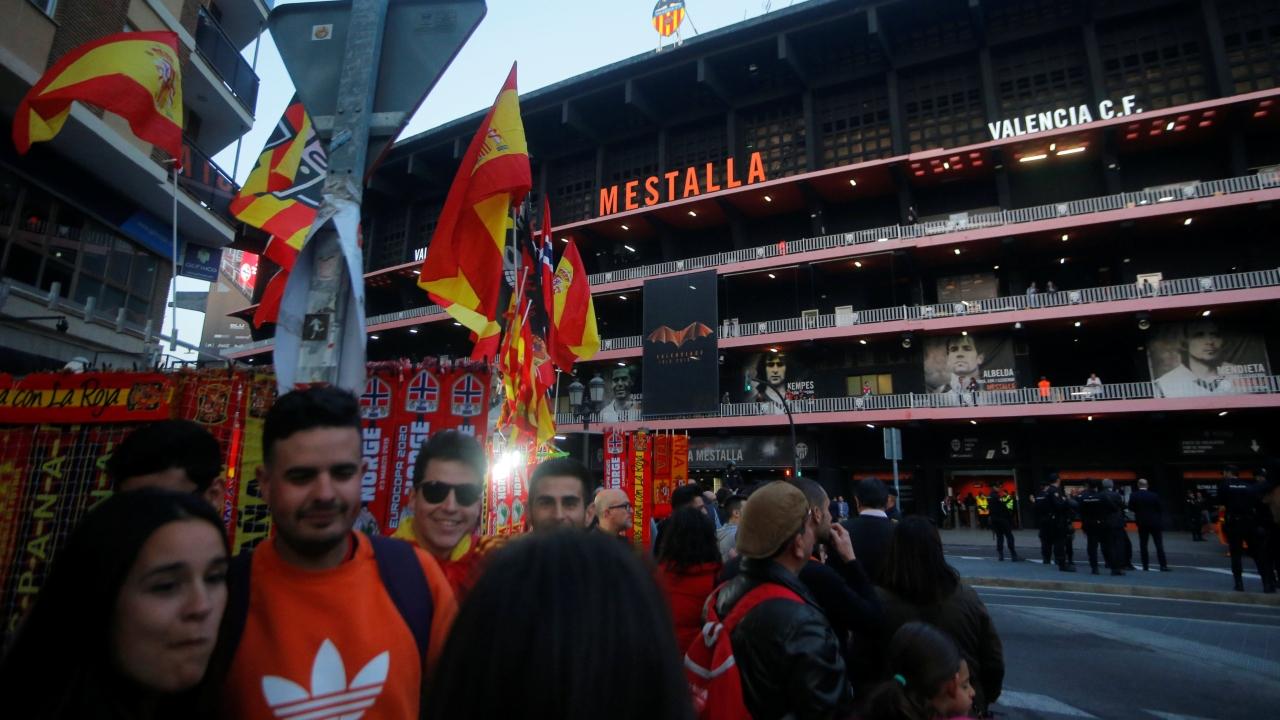 Mestalla fue una fiesta este sábado para el juego entre España y Noruega