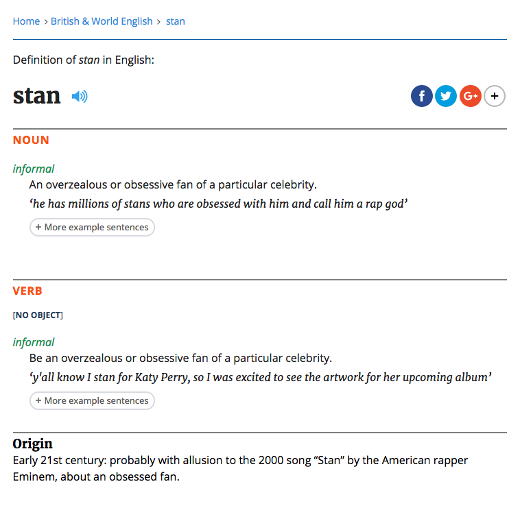 Dictionary gives Eminem's