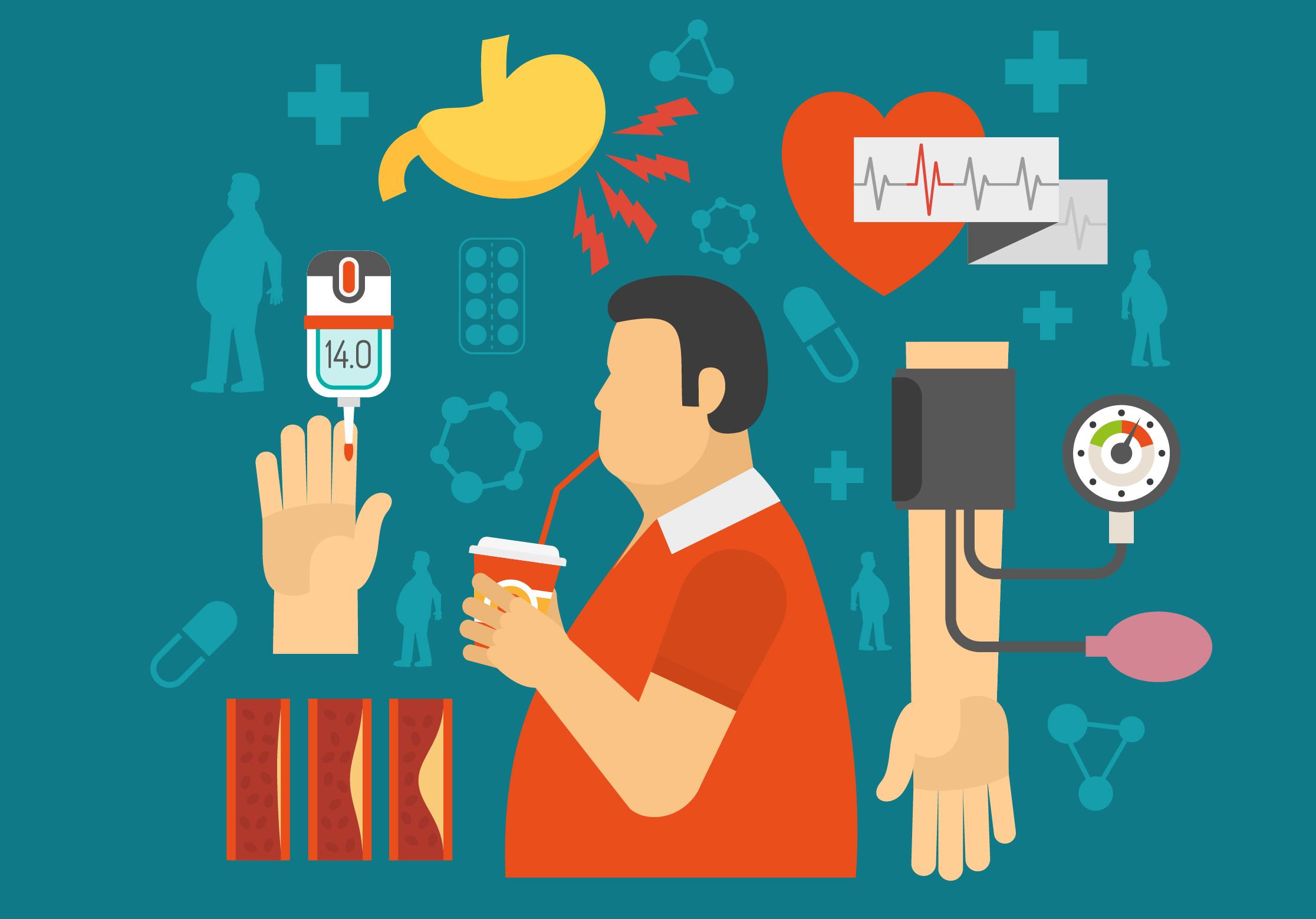 diabetes tipo 1 y 2 factores de riesgo