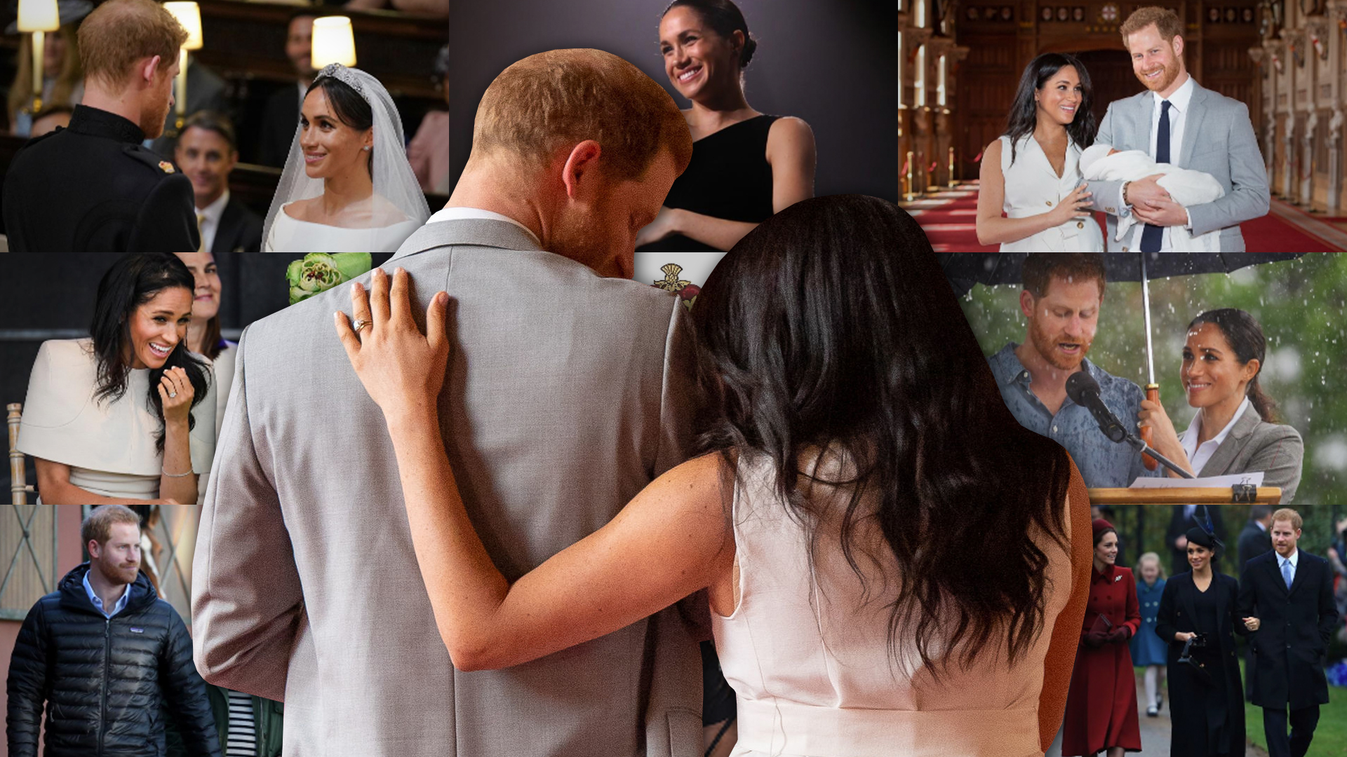 """Del """"sí acepto"""" al bebé Archie: en fotos, el primer año de casados de Meghan Markle y el príncipe Harry"""