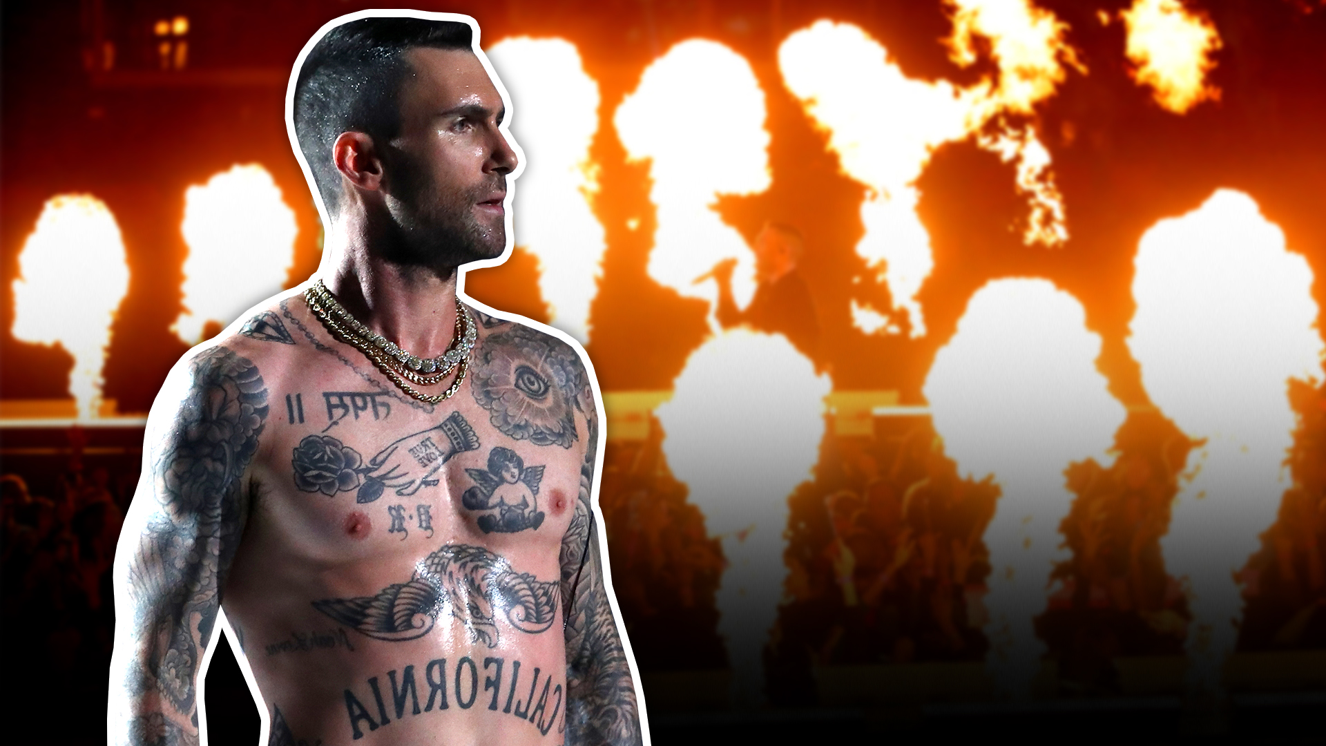 Bajo fuego Maroon 5 y no solo por el pecho desnudo de Adam Levine en el Super Bowl 2019