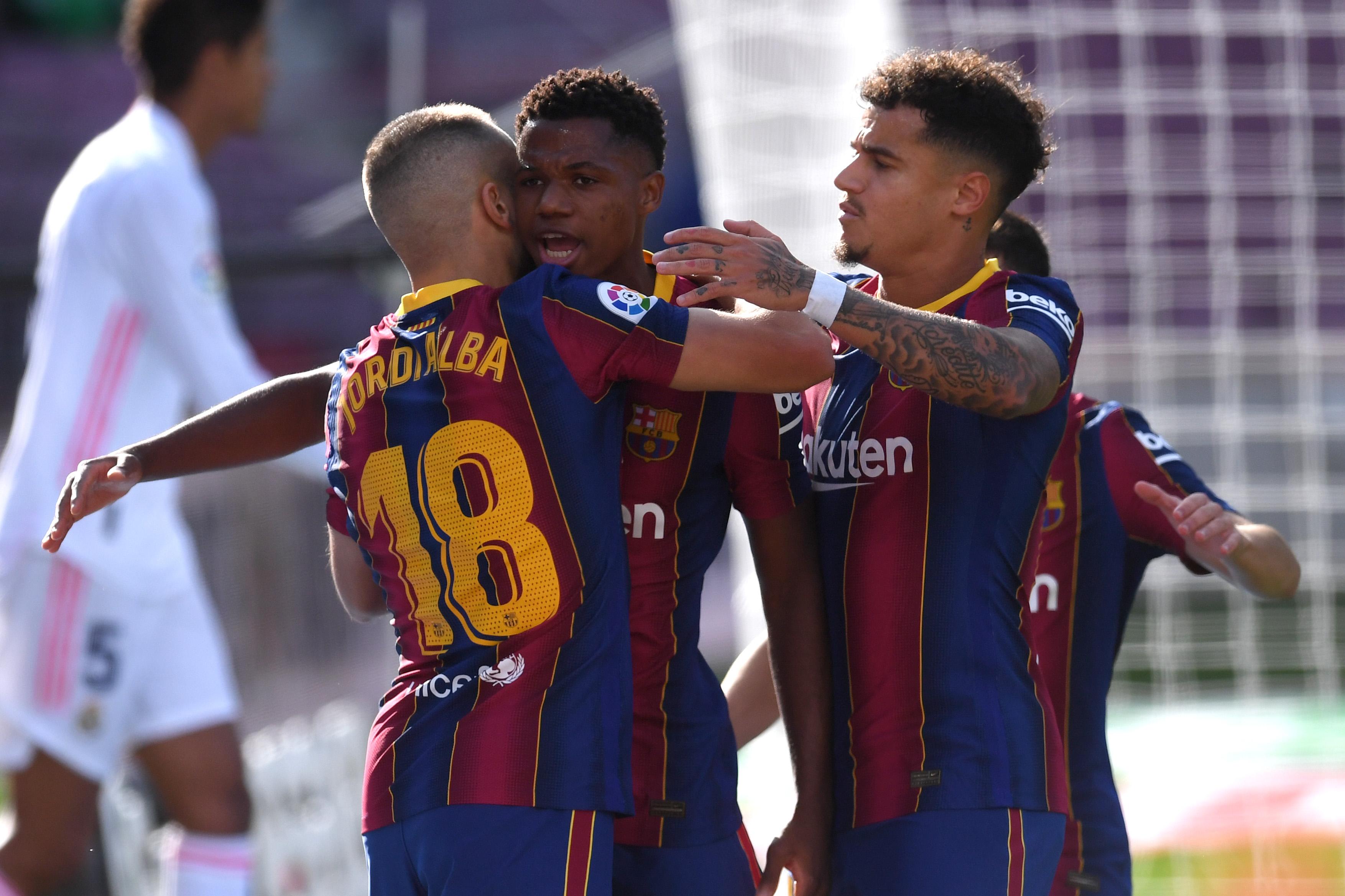 Ansu Fati es el segundo jugador más joven en anotar en El Clásico |  Deportes La Liga | TUDN Univision