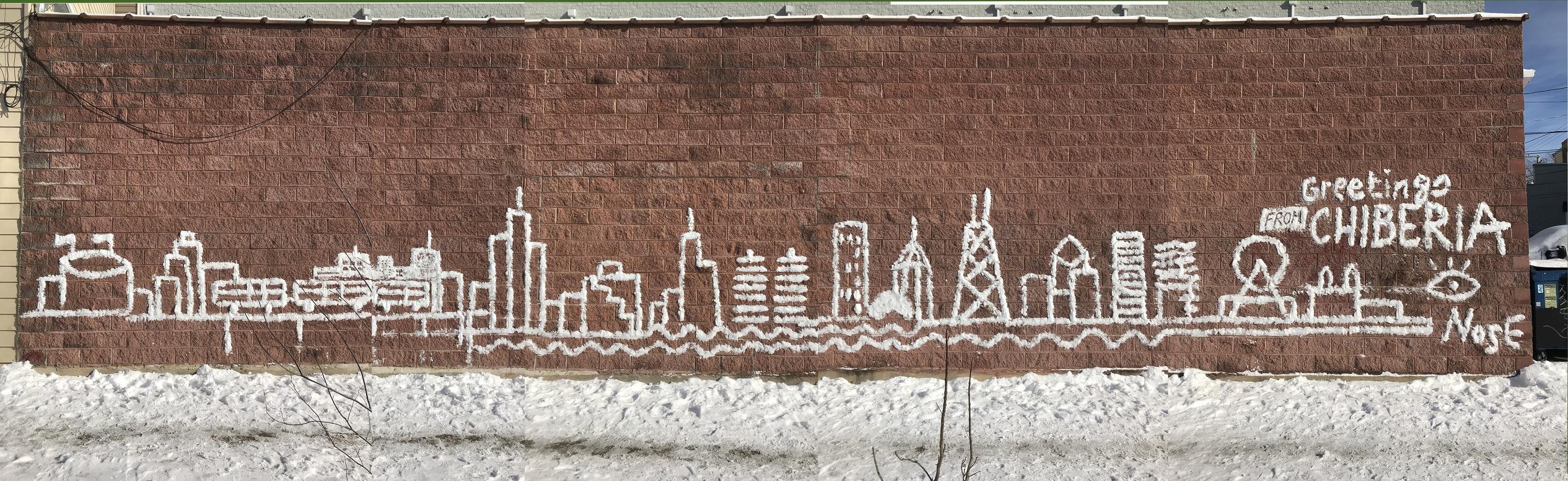 En fotos: Mira estos murales de nieve que crearon en Chicago