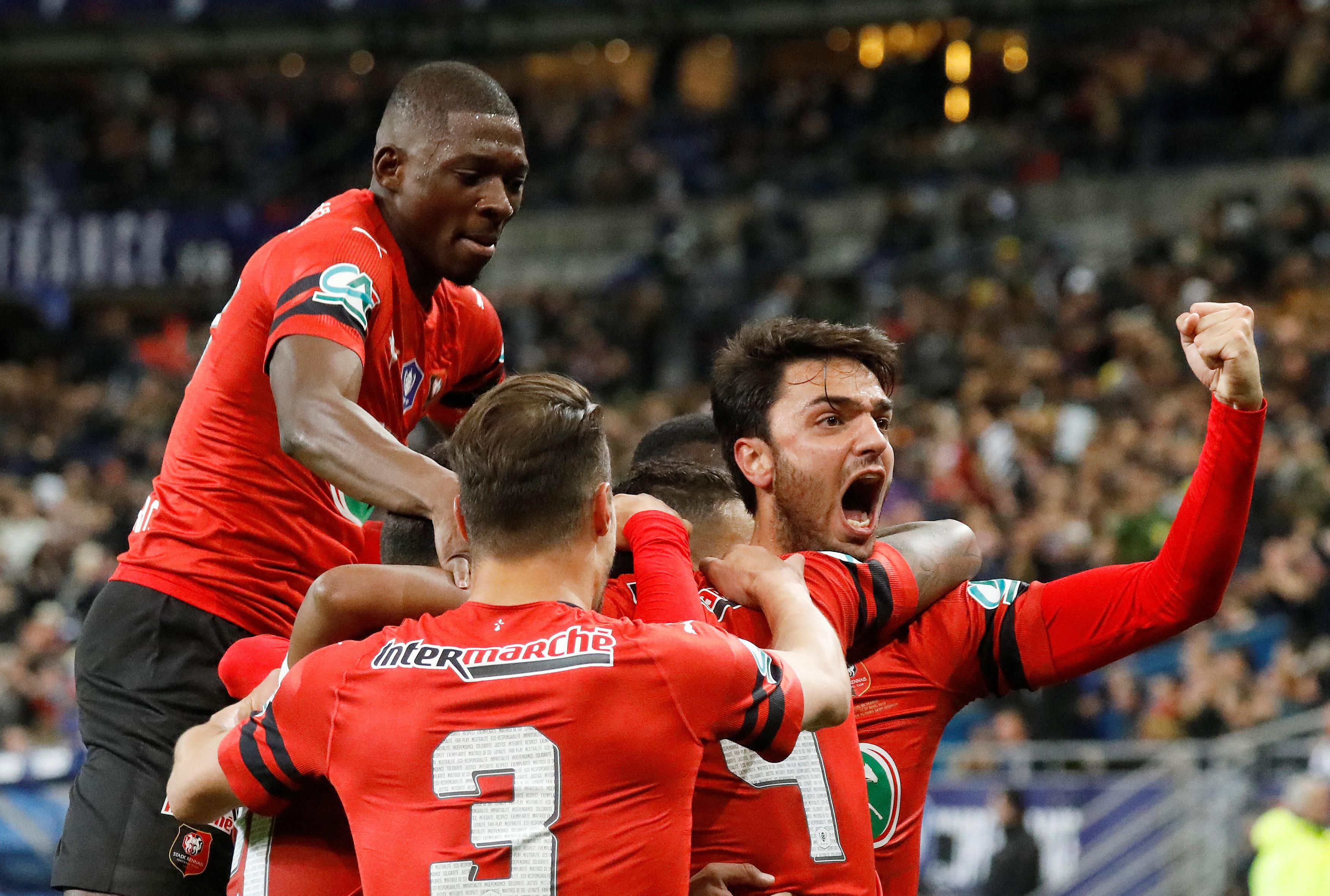 En fotos: Rennes se coronó campeón de la Copa de Francia al sorprender al PSG en la Final