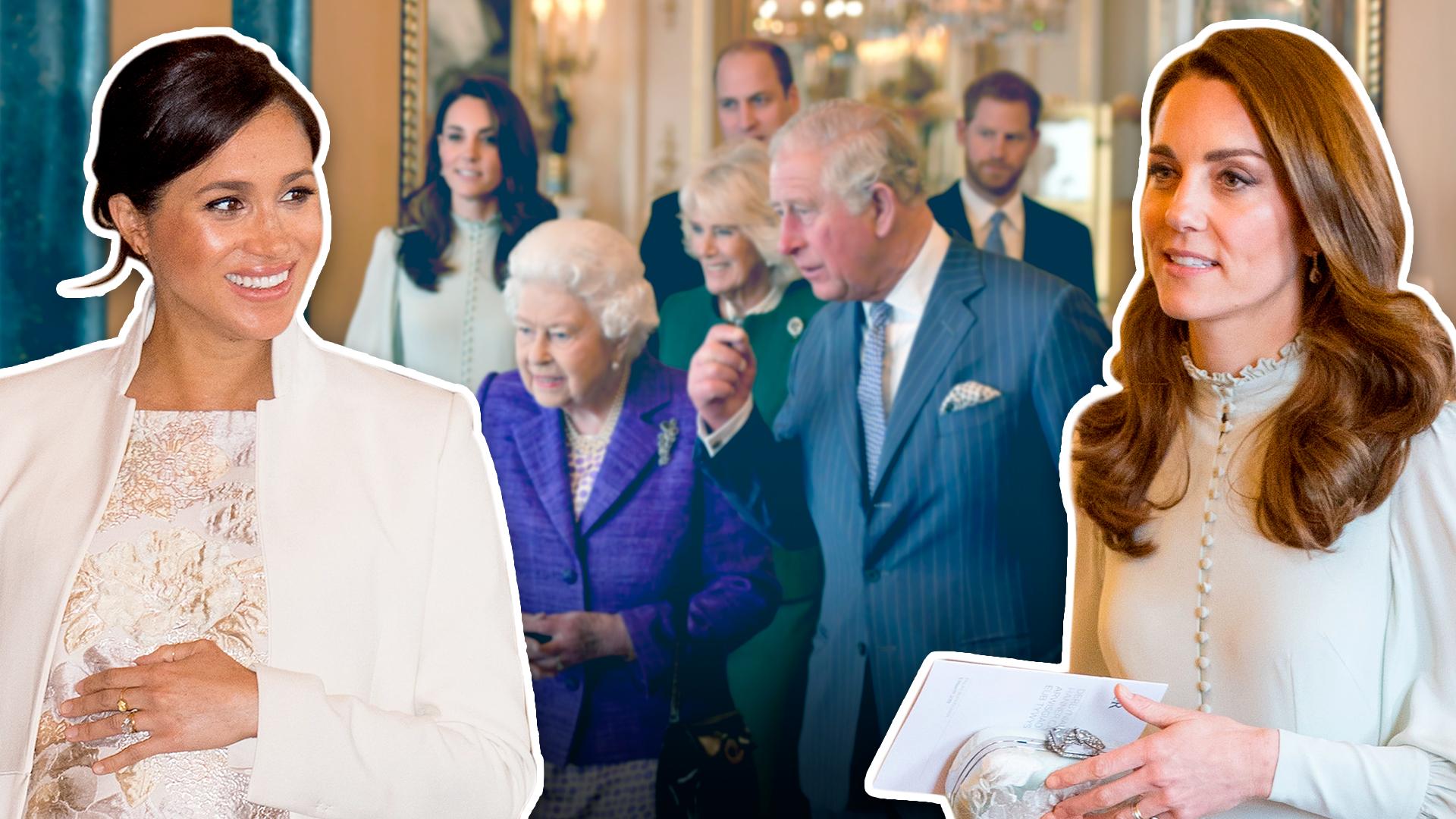 Juntas pero no revueltas: Meghan Markle y Kate Middleton le roban cámara al príncipe Carlos en su aniversario