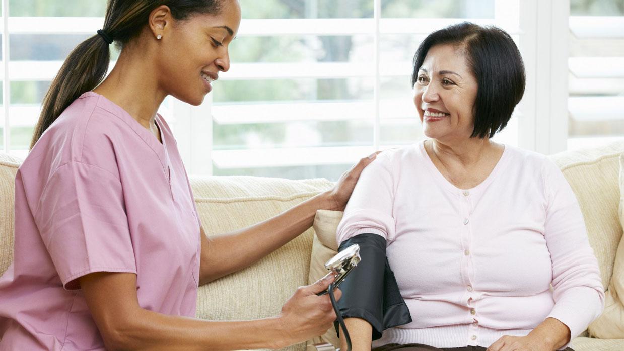 Entumecimiento de los síntomas de presión arterial alta