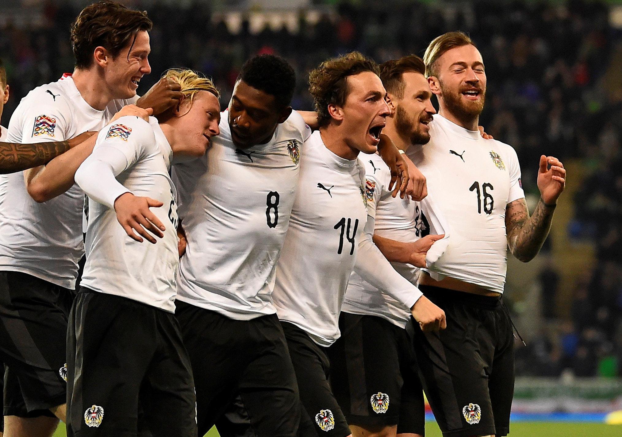 En fotos: Austria se impuso sobre la hora a Irlanda del Norte en la UEFA Nations League