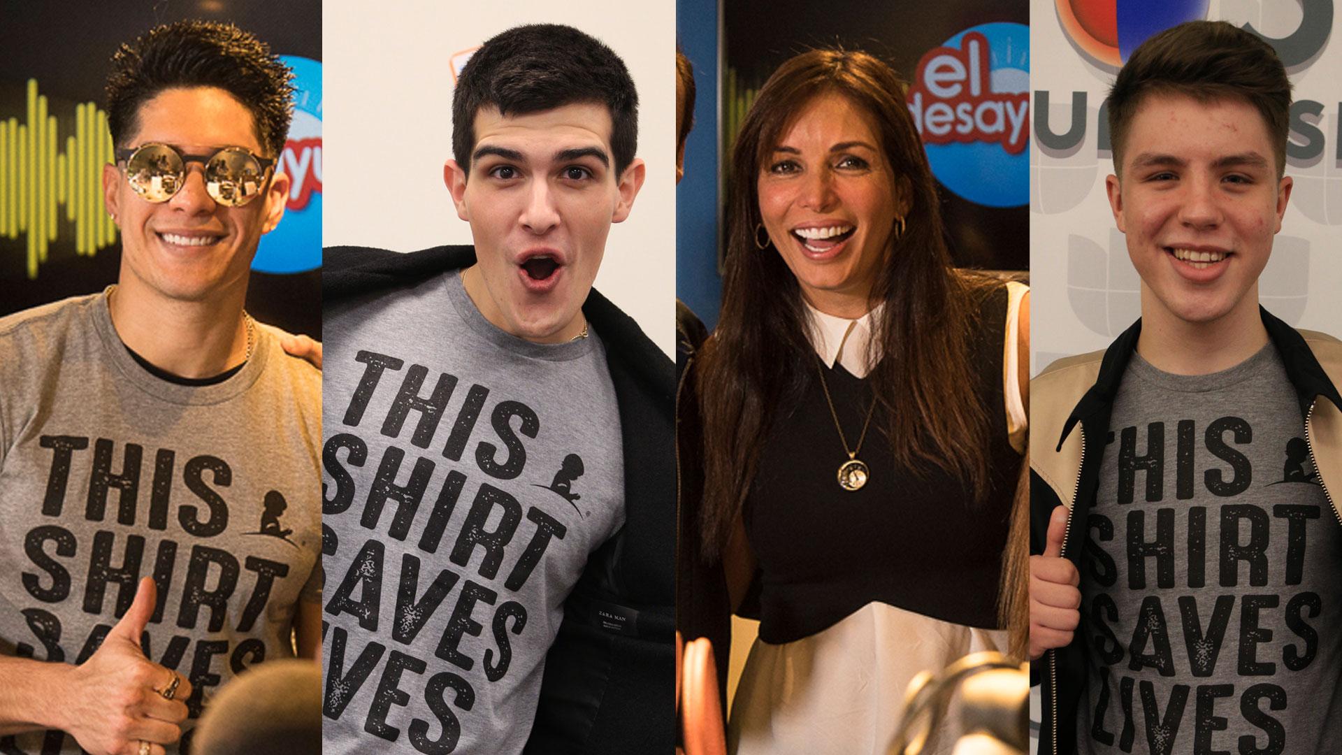 Artistas que ayudan a salvar vidas con #ThisShirtSavesLives de costa a costa