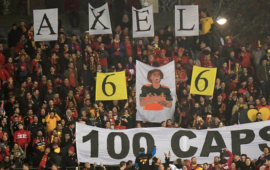 Con homenaje a Witsel en Bélgica se vivió la previa del juego ante Islandia
