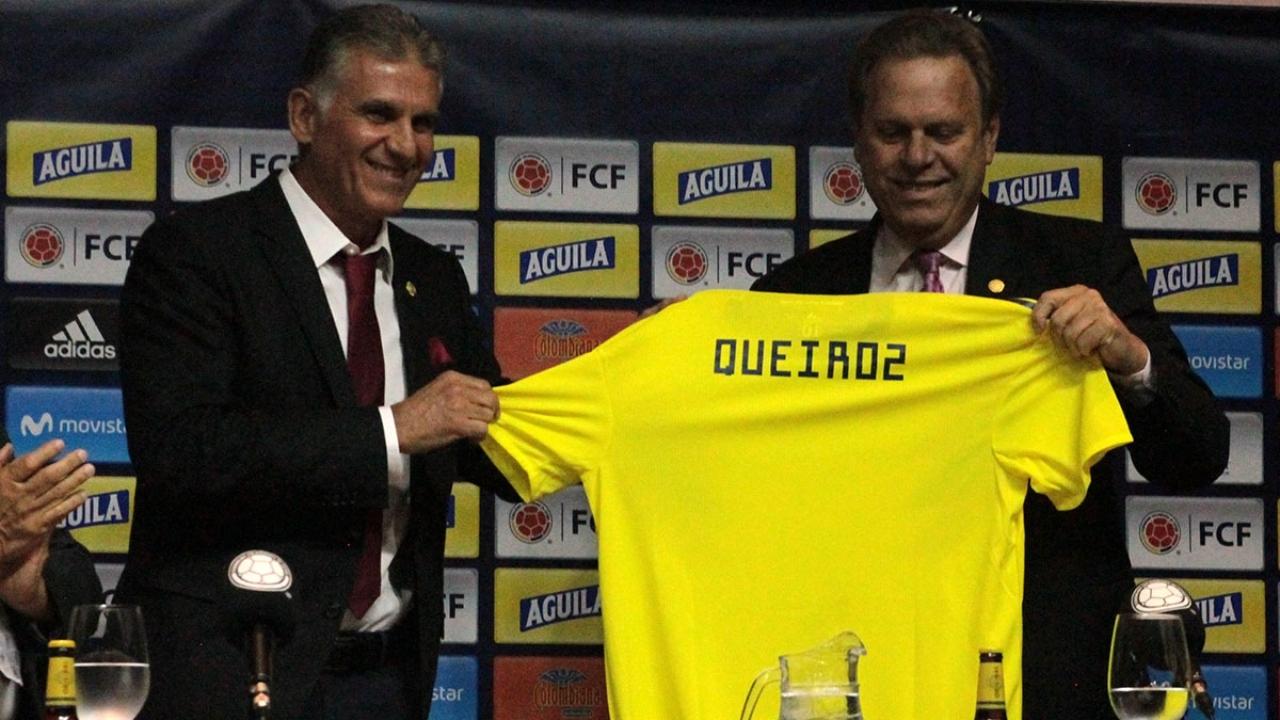 """""""Vengo a cuidar el prestigio que ha logrado Colombia ante el mundo"""": Queiroz fue presentado en los Cafeteros"""