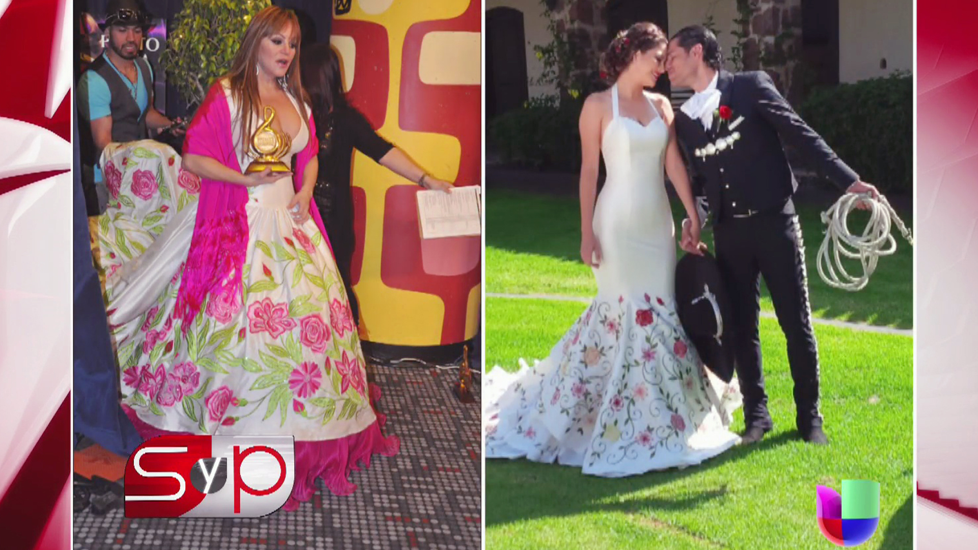 Fotos del vestido de novia de jenni rivera
