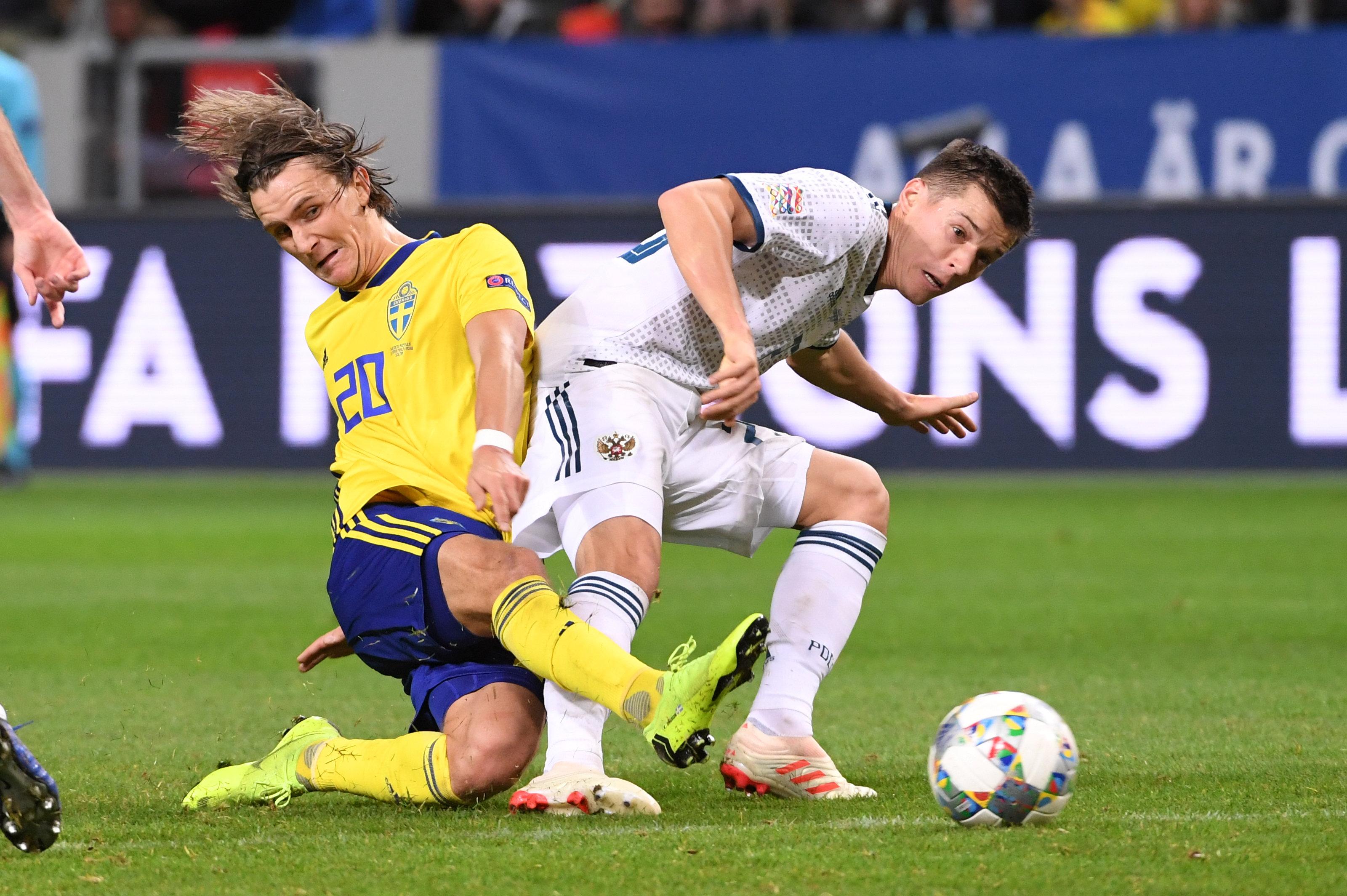 En fotos: Suecia venció Rusia y le arrebató el cupo en Liga A de la UEFA Nations League