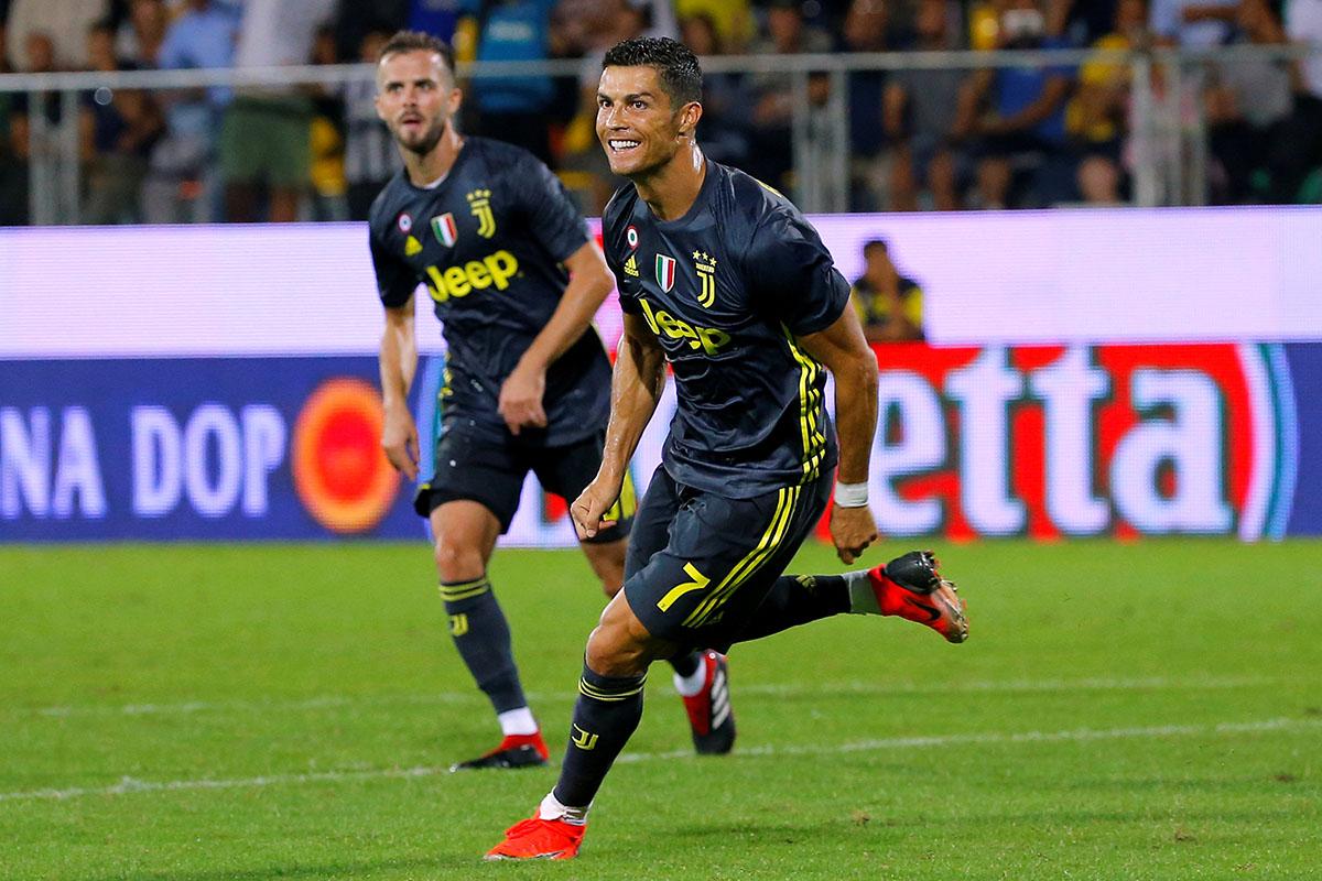 En fotos: Cristiano Ronaldo volvió a marcar y Juventus superó a Frosinone