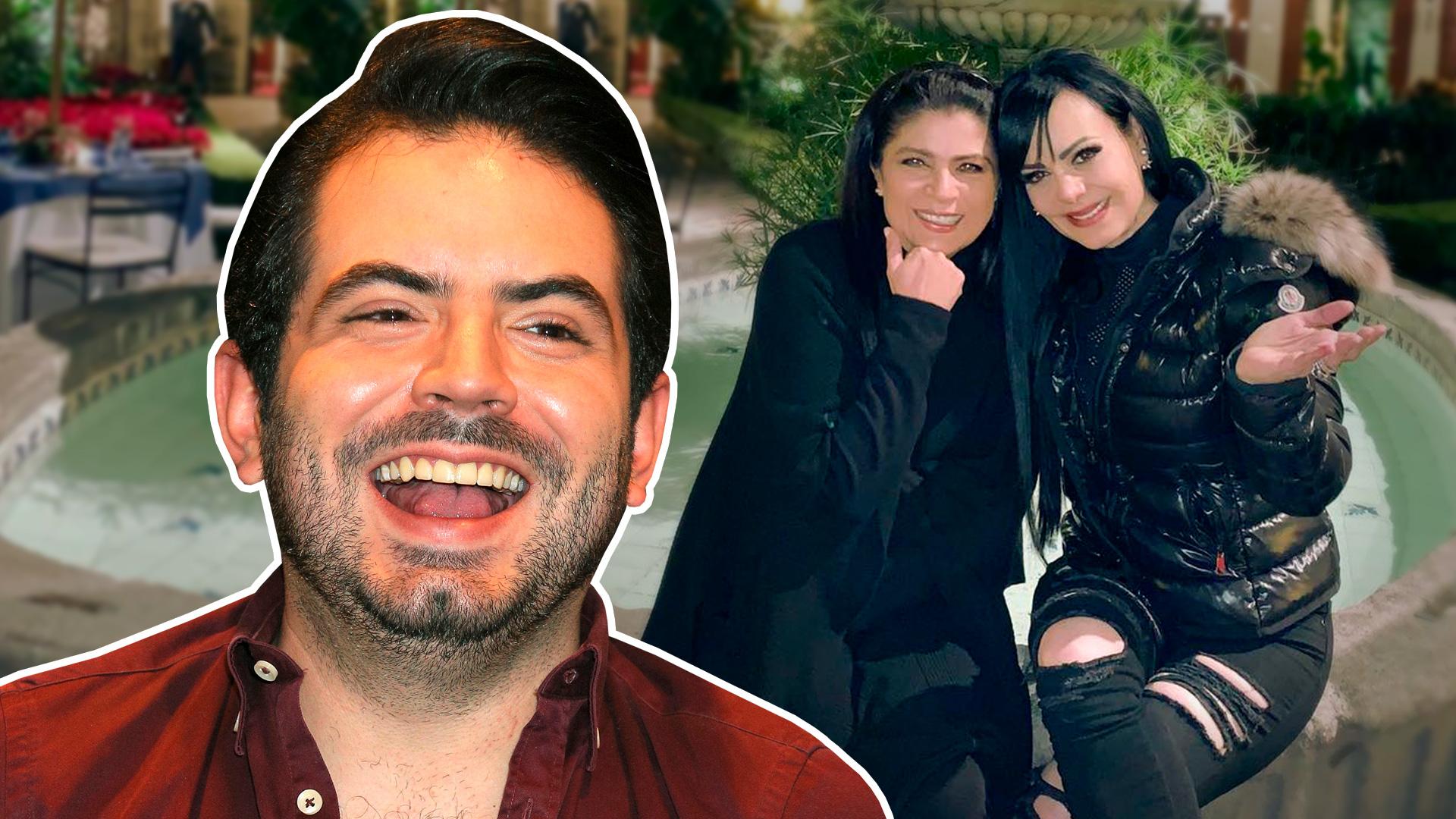 José Eduardo Derbez está entusiasmado por un beso que pronto se darán Maribel Guardia y su madre Victoria Ruffo