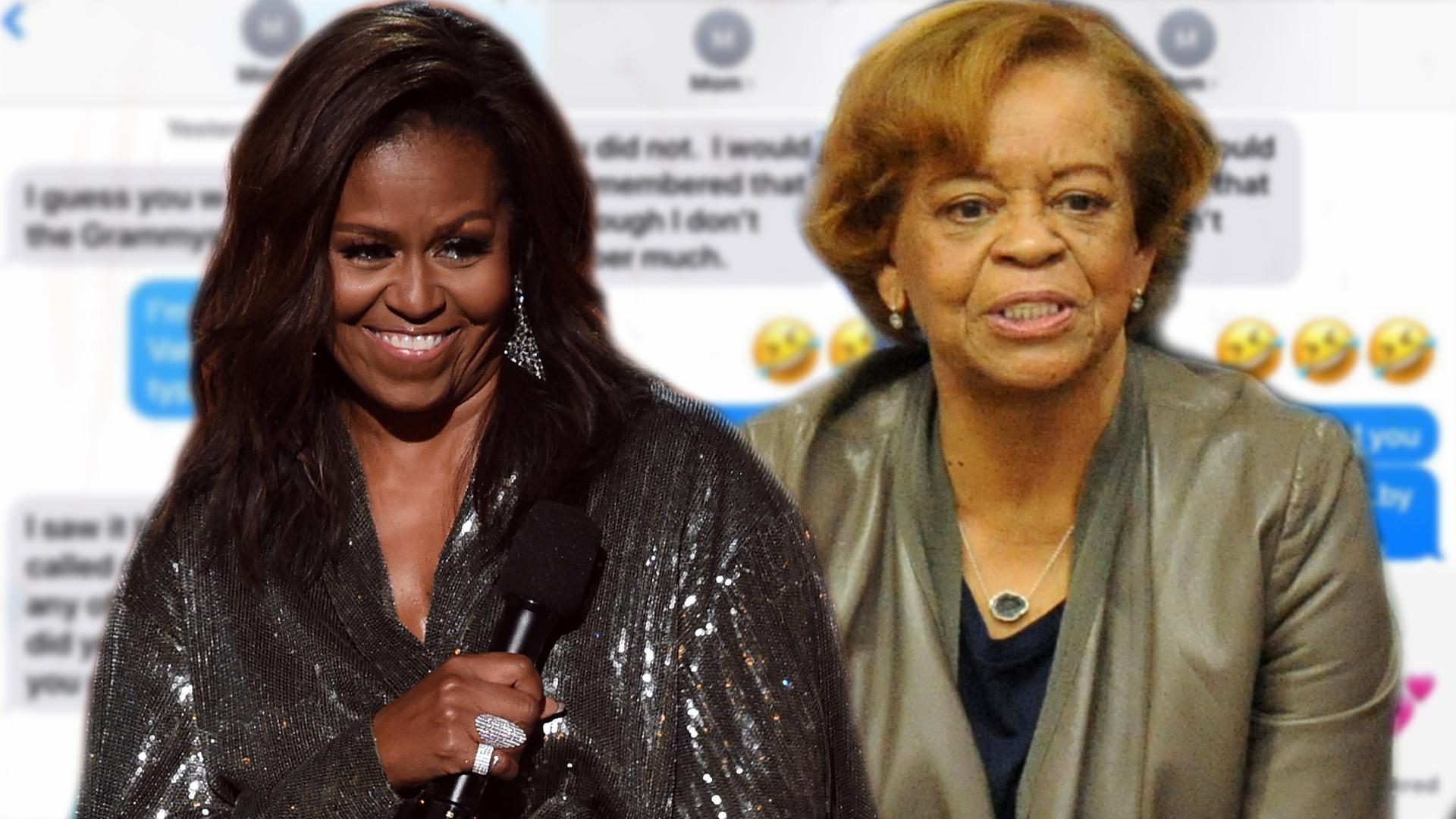 Te vas a reír con el simpático chat entre Michelle Obama y su mamá sobre la aparición que tuvo en los GRAMMY