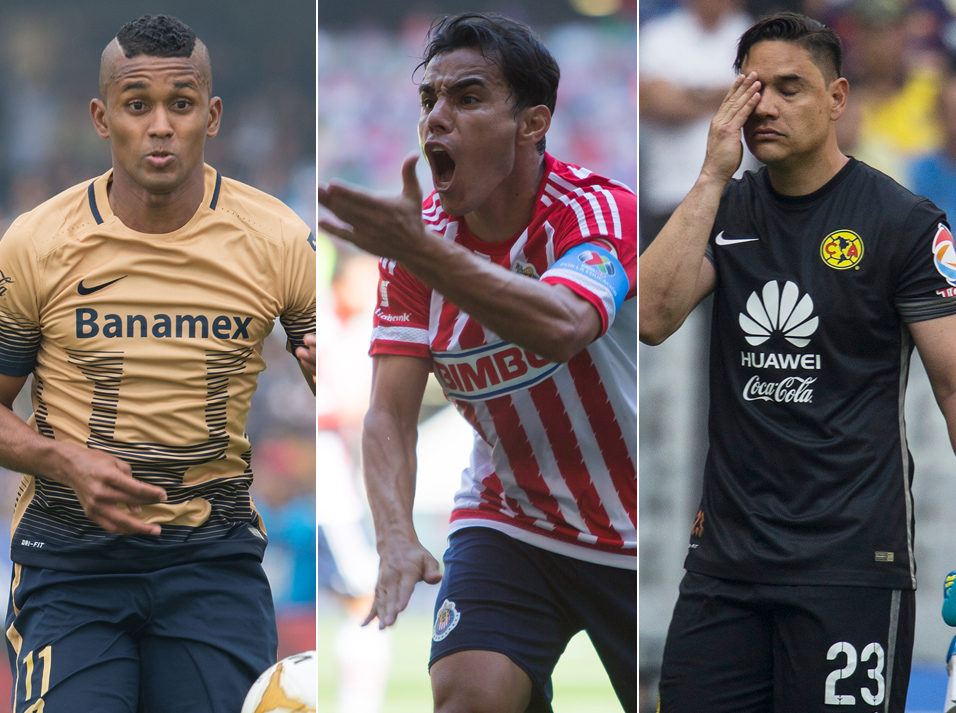 Jugadores que han venido a la baja en el Torneo de Clausura 2016