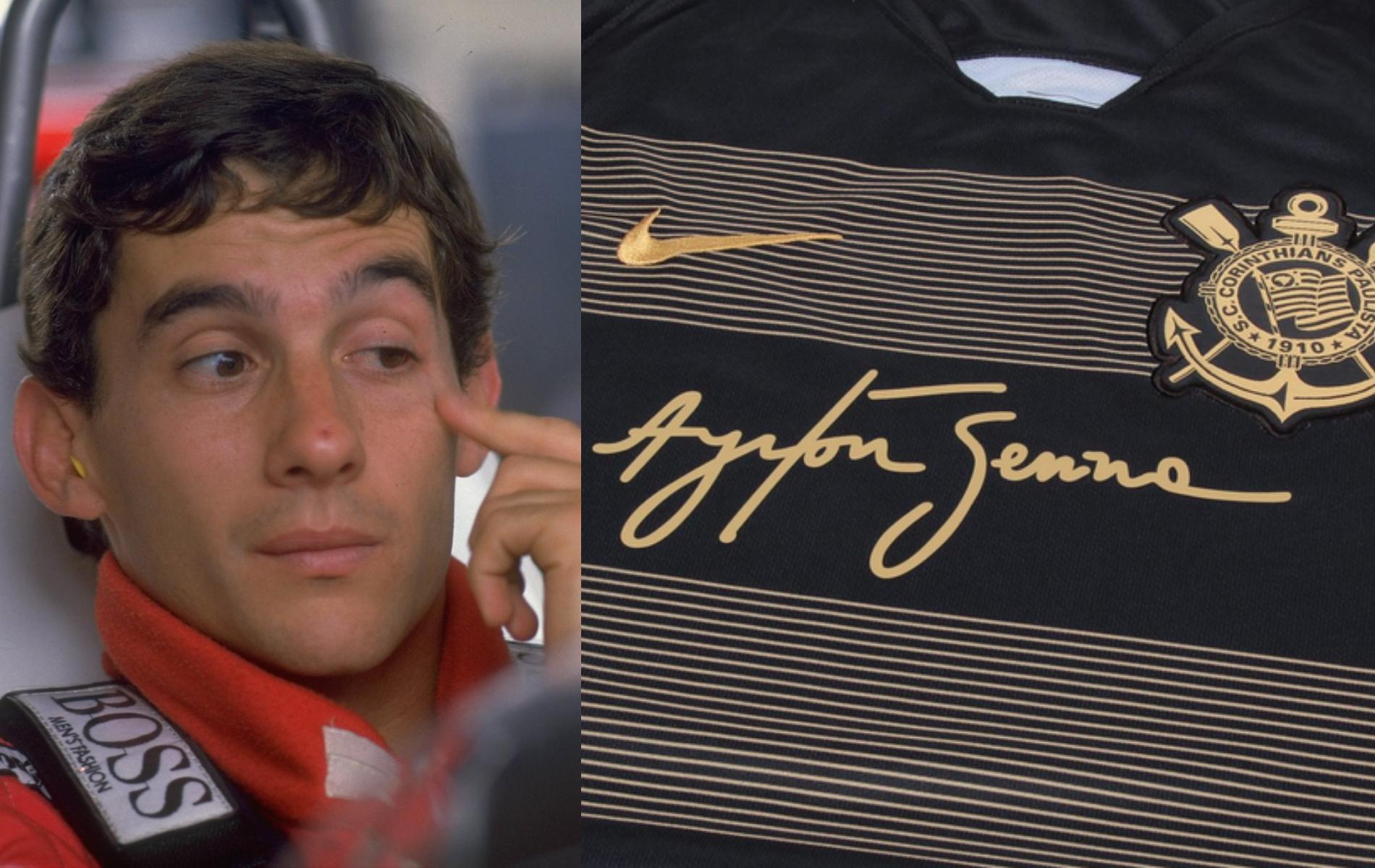 Corinthians rinde homenaje a Ayrton Senna con playera especial en su honor