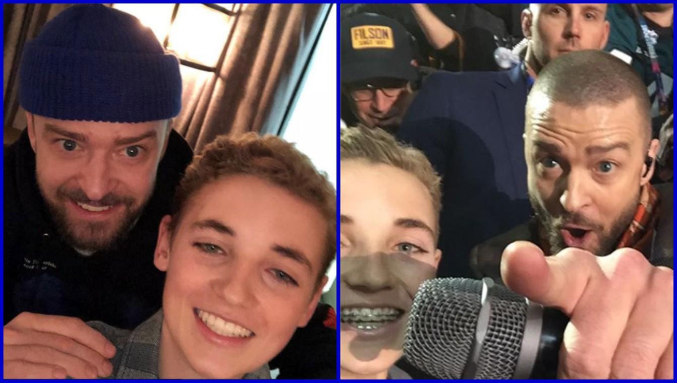El sueño sí se hizo realidad: Justin Timberlake recibe en su camerino al 'selfie kid'