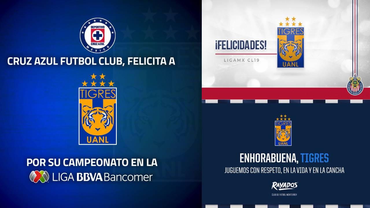 ¡Cruz Azul, Chivas y Rayados se unieron! Reacciones al séptimo título de Tigres en la Liga MX