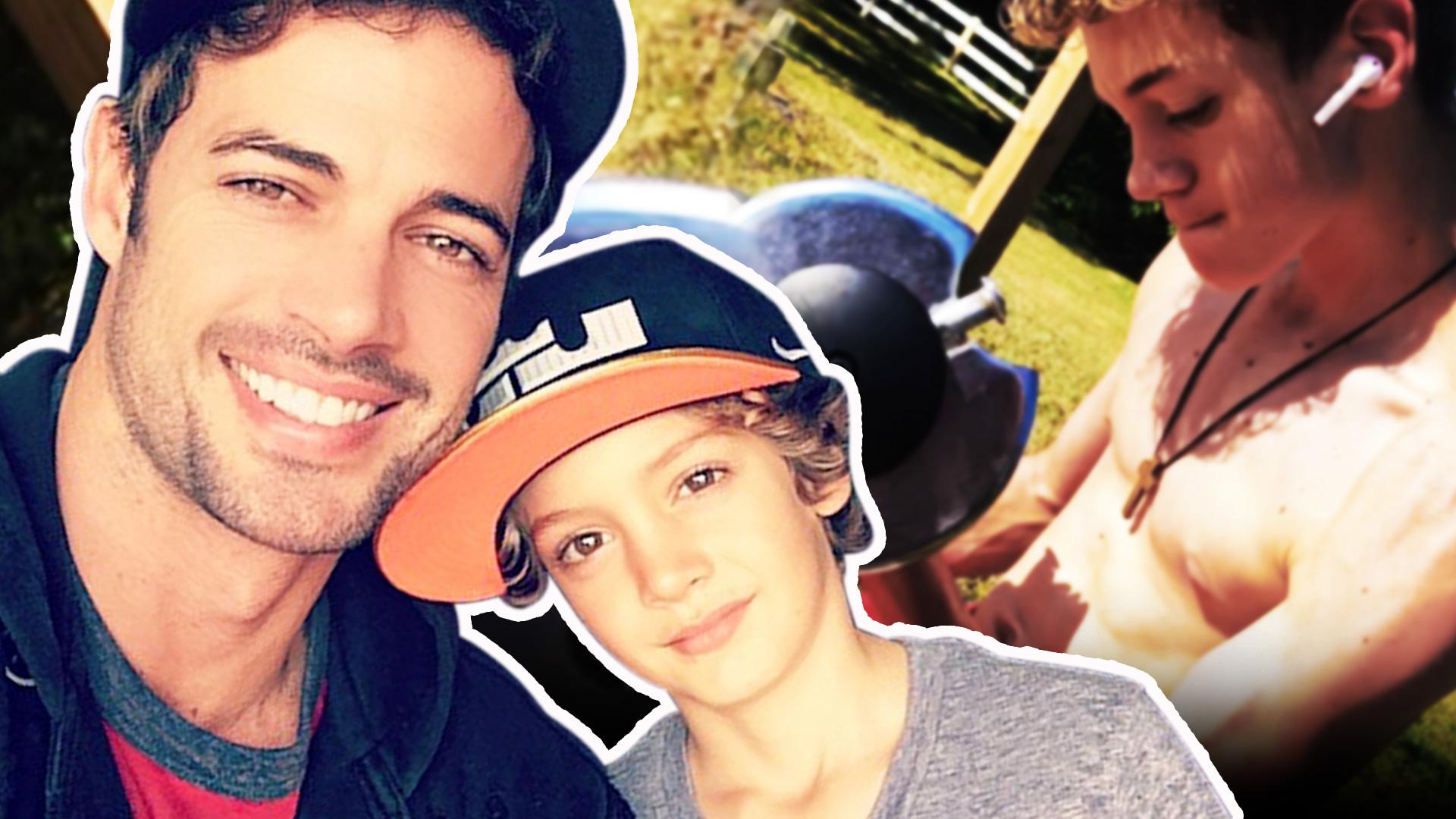 El hijo de William Levy tiene el mismo rostro y hasta los mismos músculos que su papá, así ha crecido