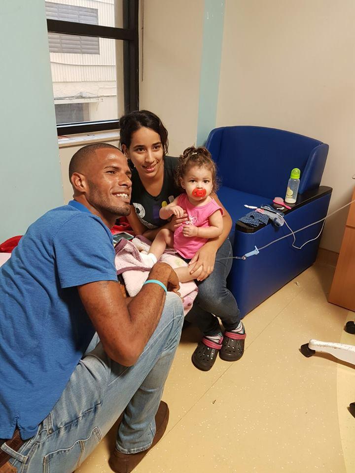 La visita de Javier Culson a niños hospitalizados