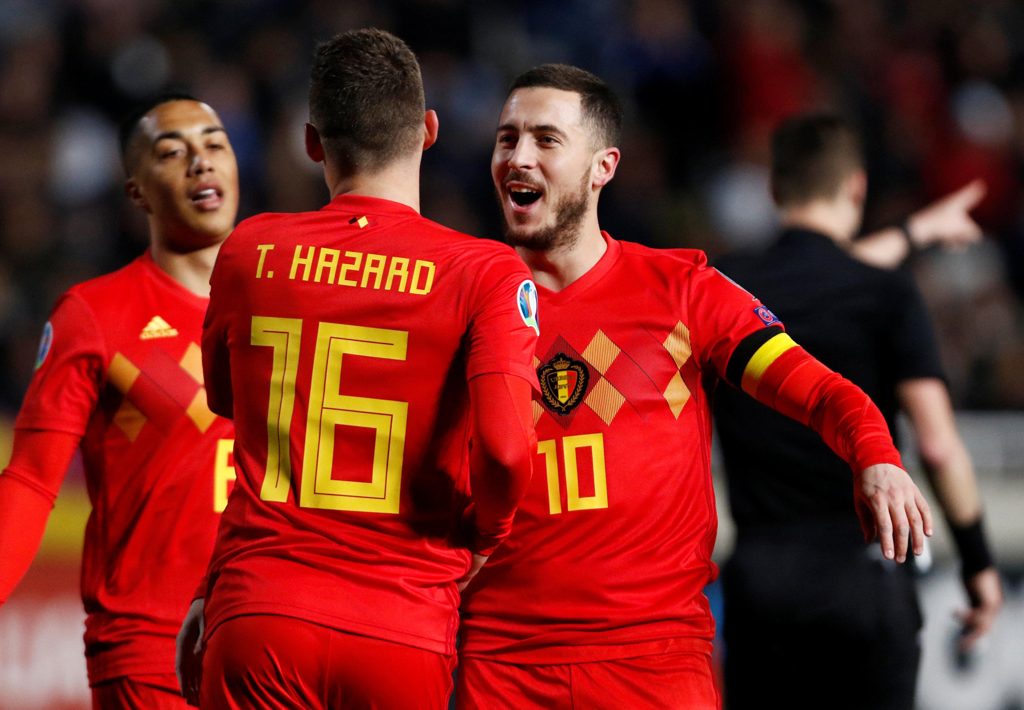 En fotos: Eden Hazard anotó en su juego 100 con Bélgica y superan a Chipre