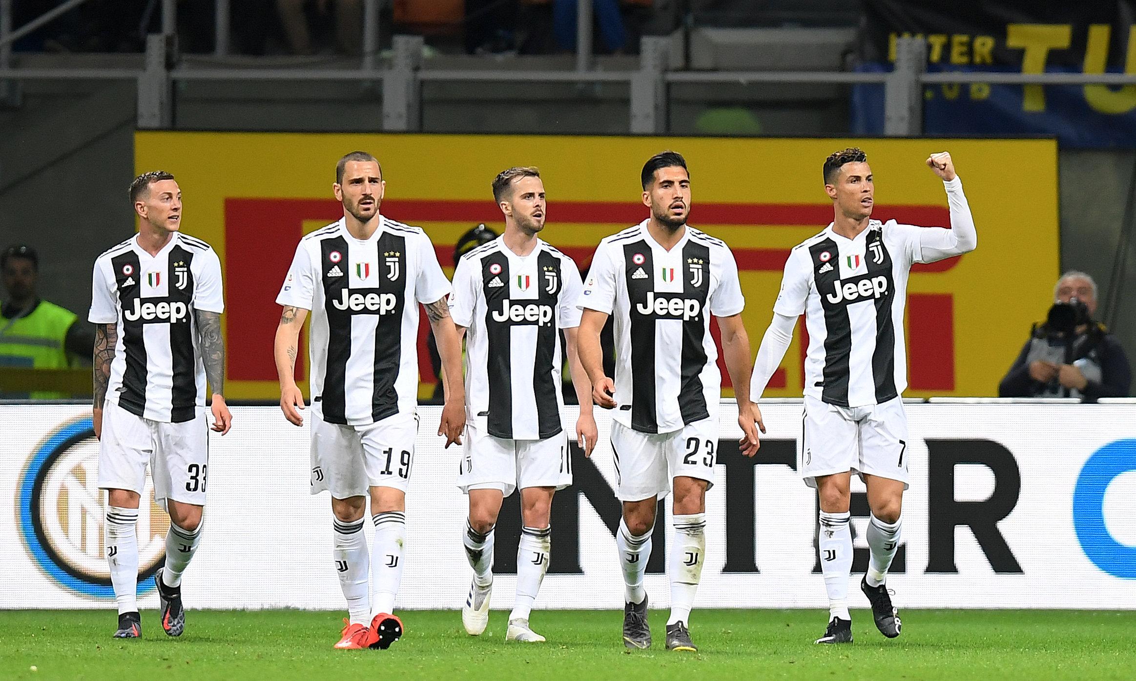 En fotos: Inter y Juventus empatan con gol 600 de Cristiano en día de burlas de la tribuna