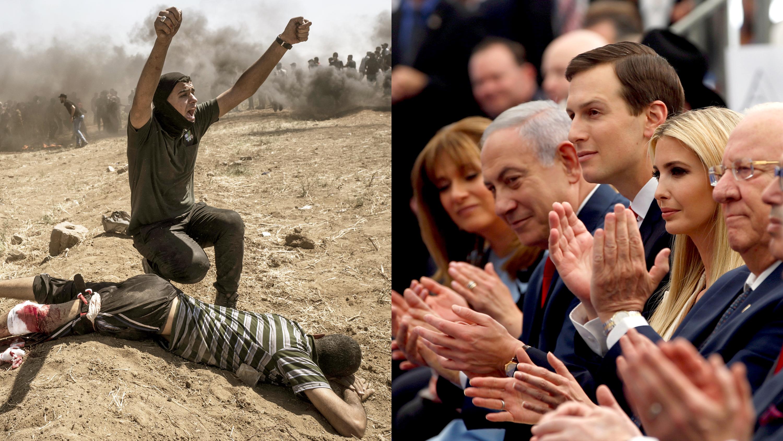 Sonrisas en Jerusalén y muertos en Gaza: las dos caras de la nueva embajada de EEUU en Israel (fotos)