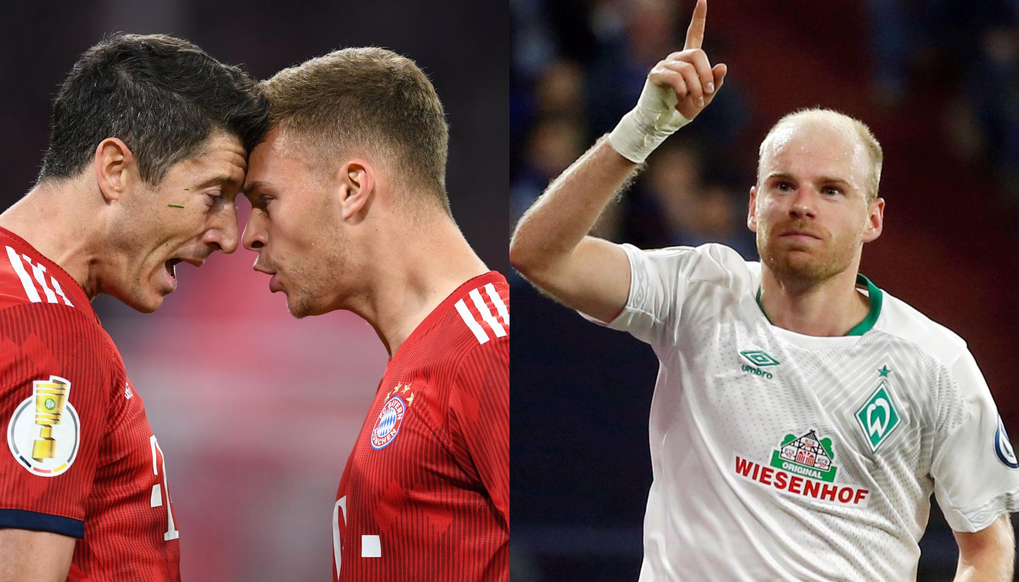 En fotos: el intenso paso de Bayern Munich y Werder Bremen a Semifinales de Copa de Alemania