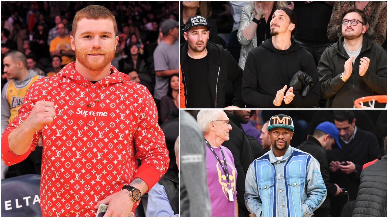 Canelo y Mayweather comandaron la lista de celebridades en el juego entre Clippers y Lakers en Los Ángeles