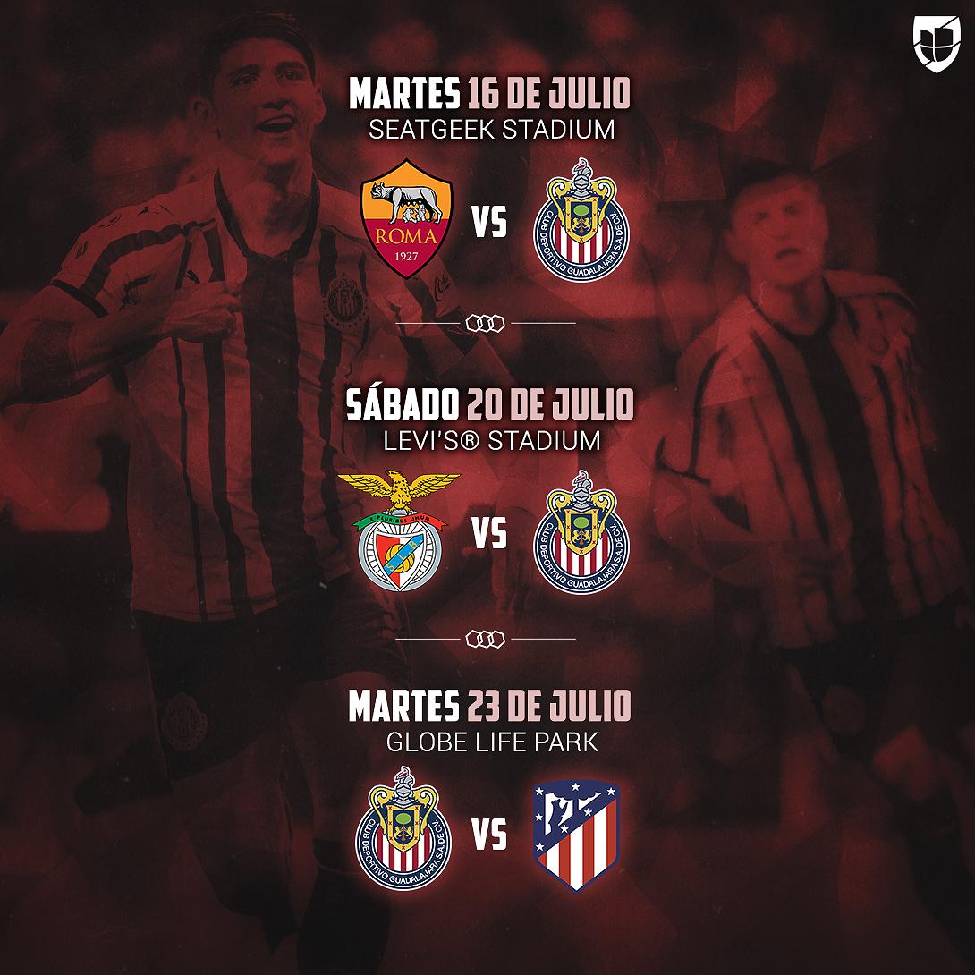 Chivas International Champions Cup Calendario.Exclusiva Ya Hay Fechas Y Sedes Chivas Enfrentara A As
