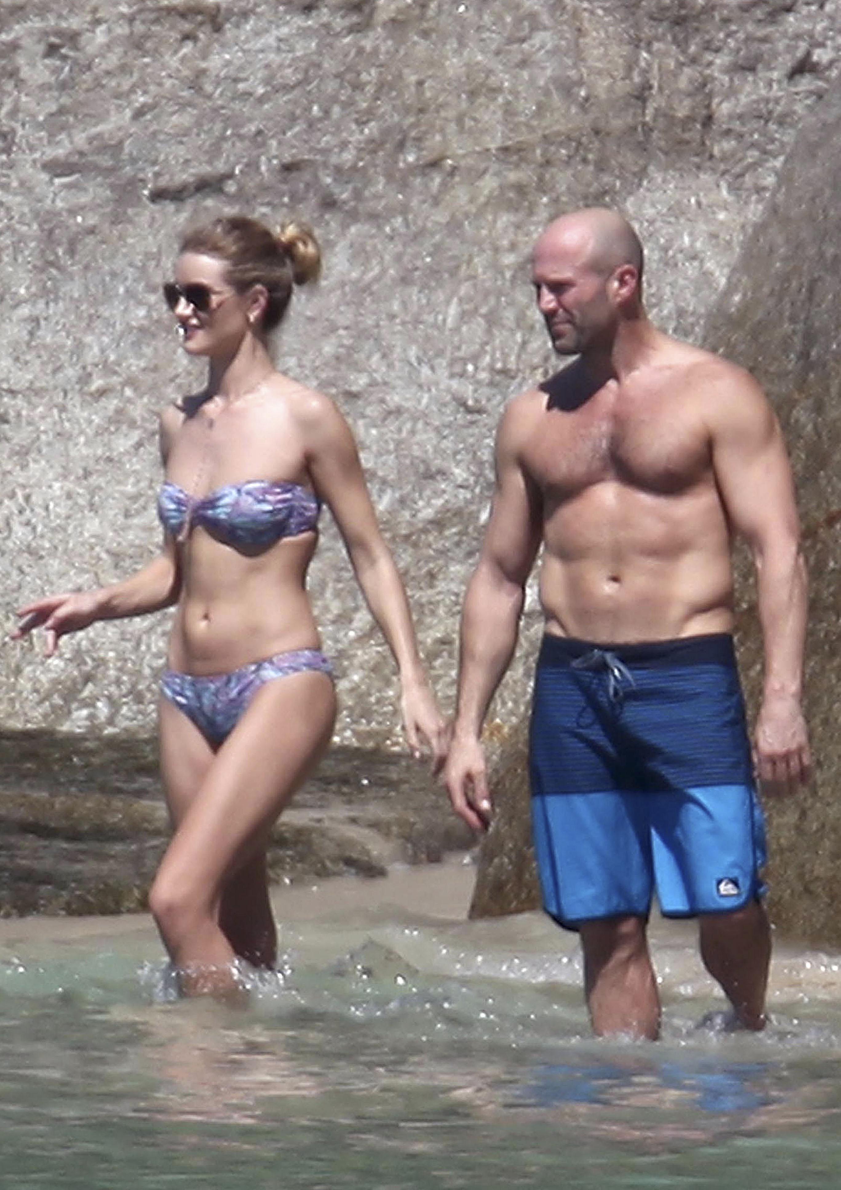 Rosie Huntington-Whiteley y Jason Statham de vacaciones