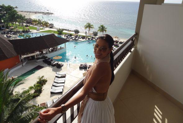 Columba se gozó sus vacaciones en Jamaica
