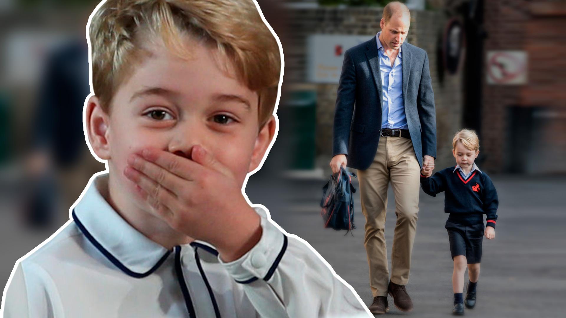 El príncipe George le hizo una tierna petición a su padre antes de que se fuera a trabajar