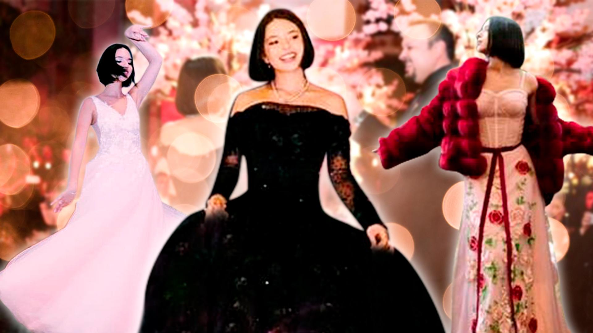 37e01e2f2e Con cuatro vestidos (incluido uno negro) Ángela Aguilar festejó su fiesta  de XV años