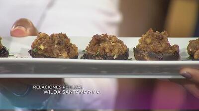 La receta: setas rellenas de salchicha italiana